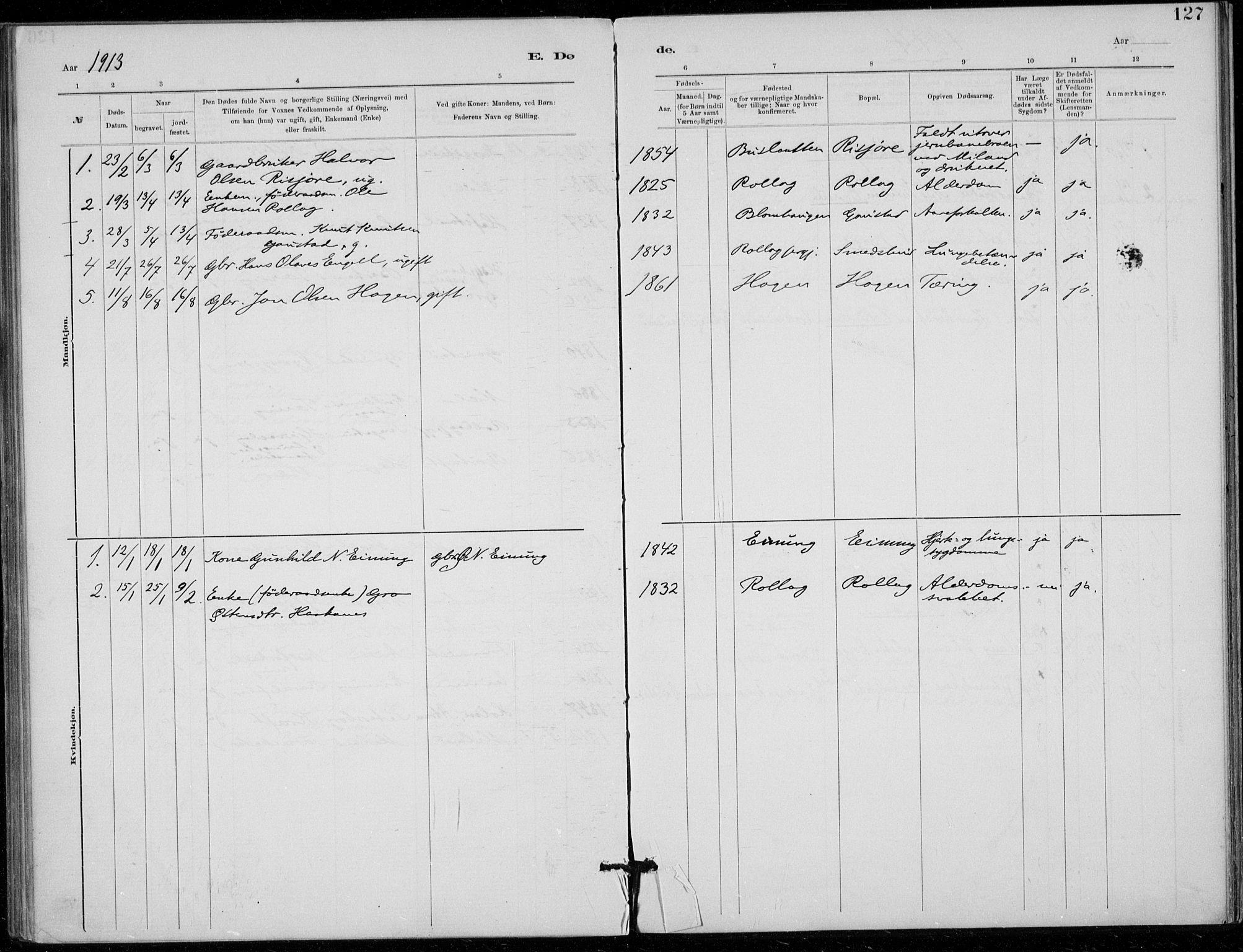 SAKO, Tinn kirkebøker, F/Fb/L0002: Ministerialbok nr. II 2, 1878-1917, s. 127