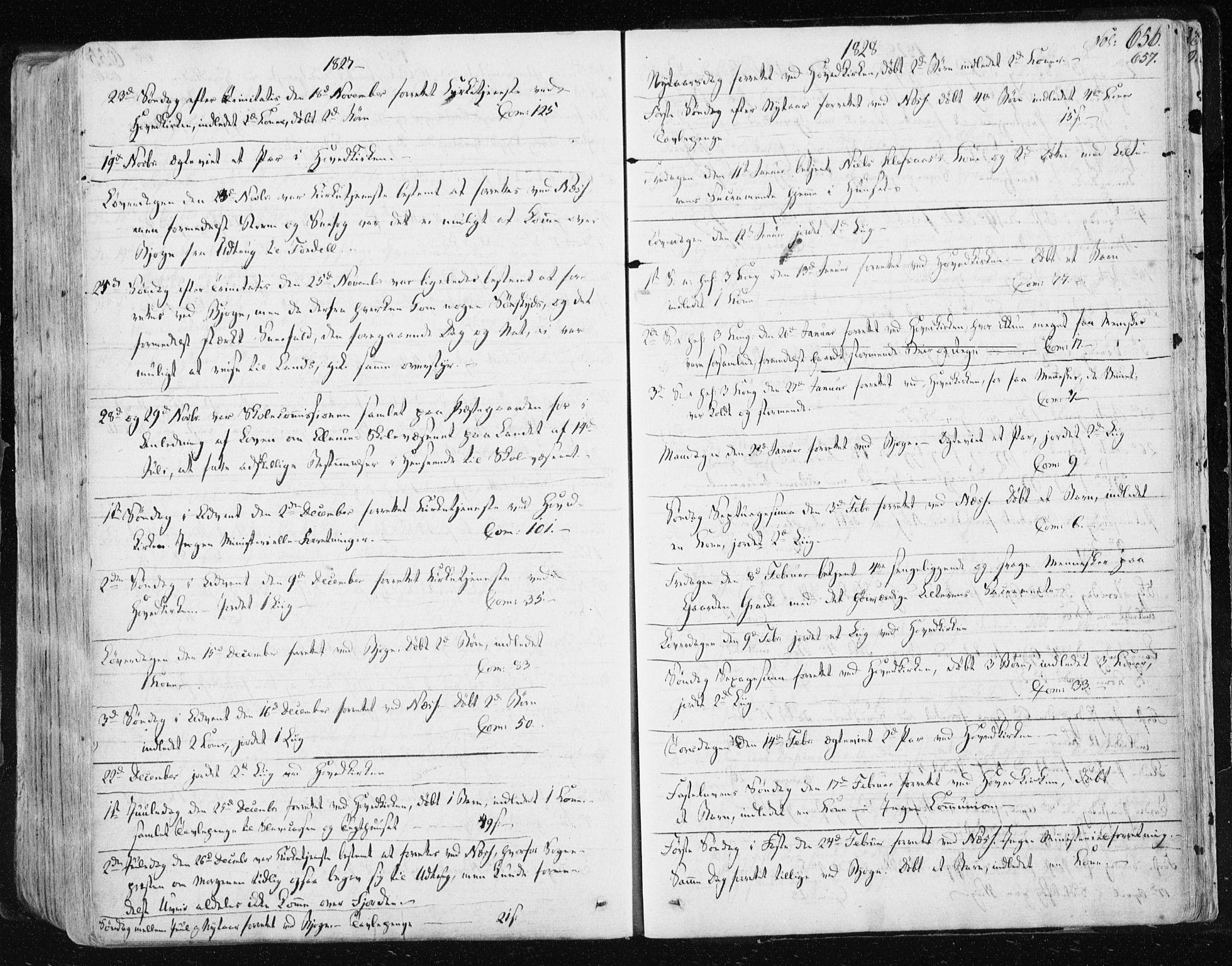 SAT, Ministerialprotokoller, klokkerbøker og fødselsregistre - Sør-Trøndelag, 659/L0735: Ministerialbok nr. 659A05, 1826-1841, s. 656