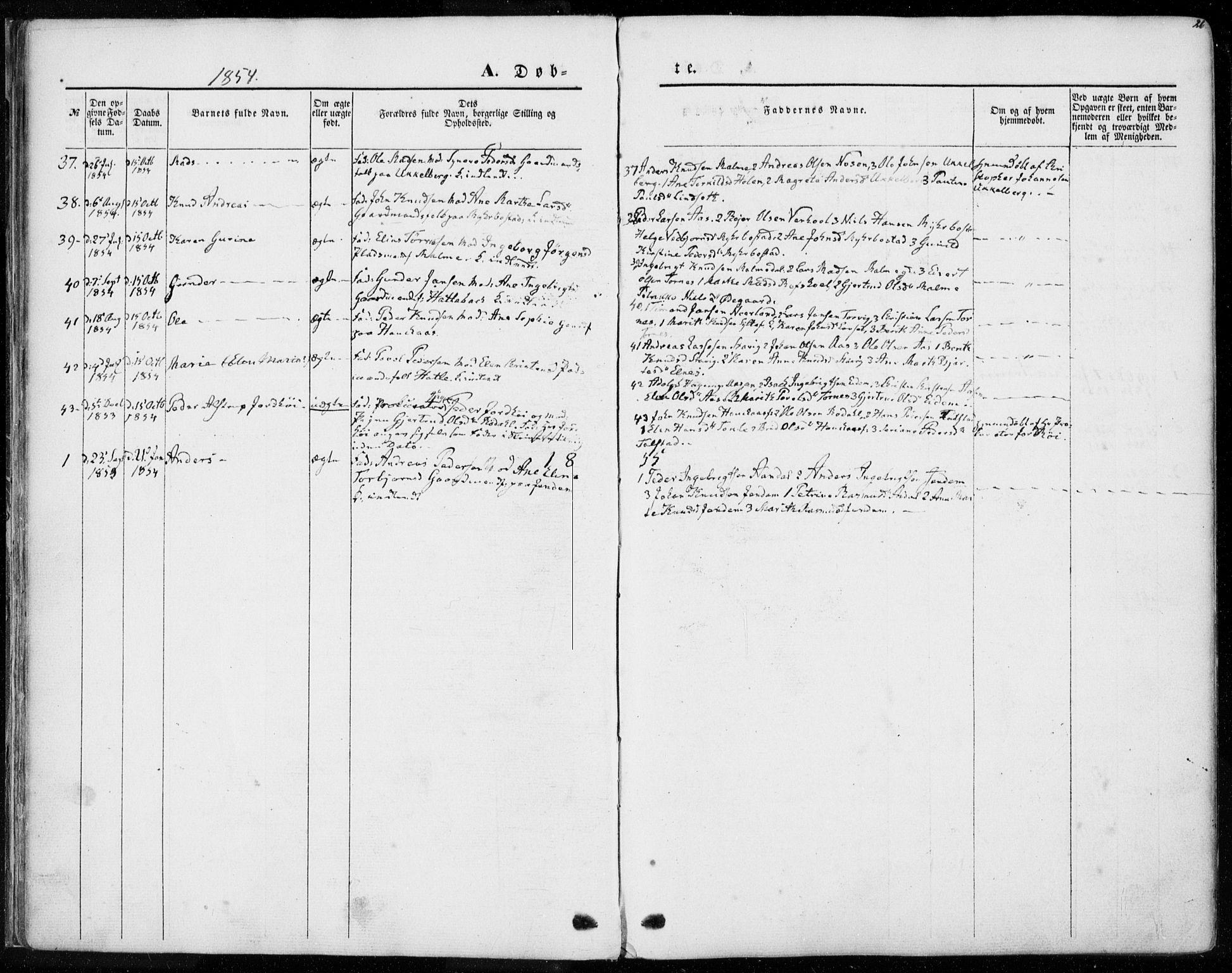 SAT, Ministerialprotokoller, klokkerbøker og fødselsregistre - Møre og Romsdal, 565/L0748: Ministerialbok nr. 565A02, 1845-1872, s. 26