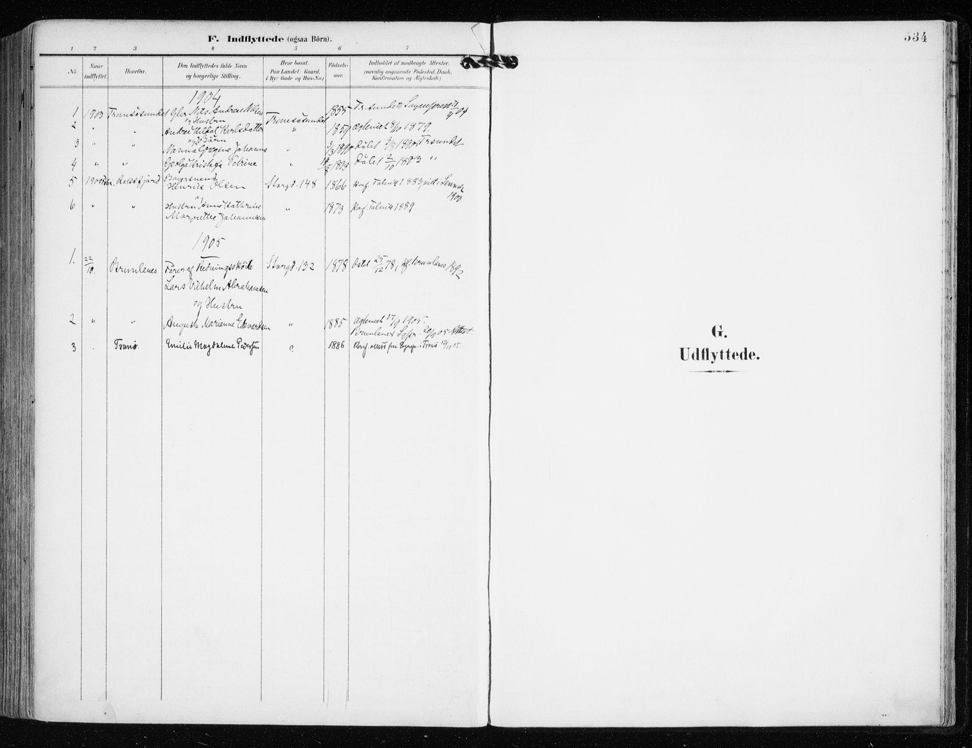 SATØ, Tromsø sokneprestkontor/stiftsprosti/domprosti, G/Ga/L0016kirke: Ministerialbok nr. 16, 1899-1906, s. 534