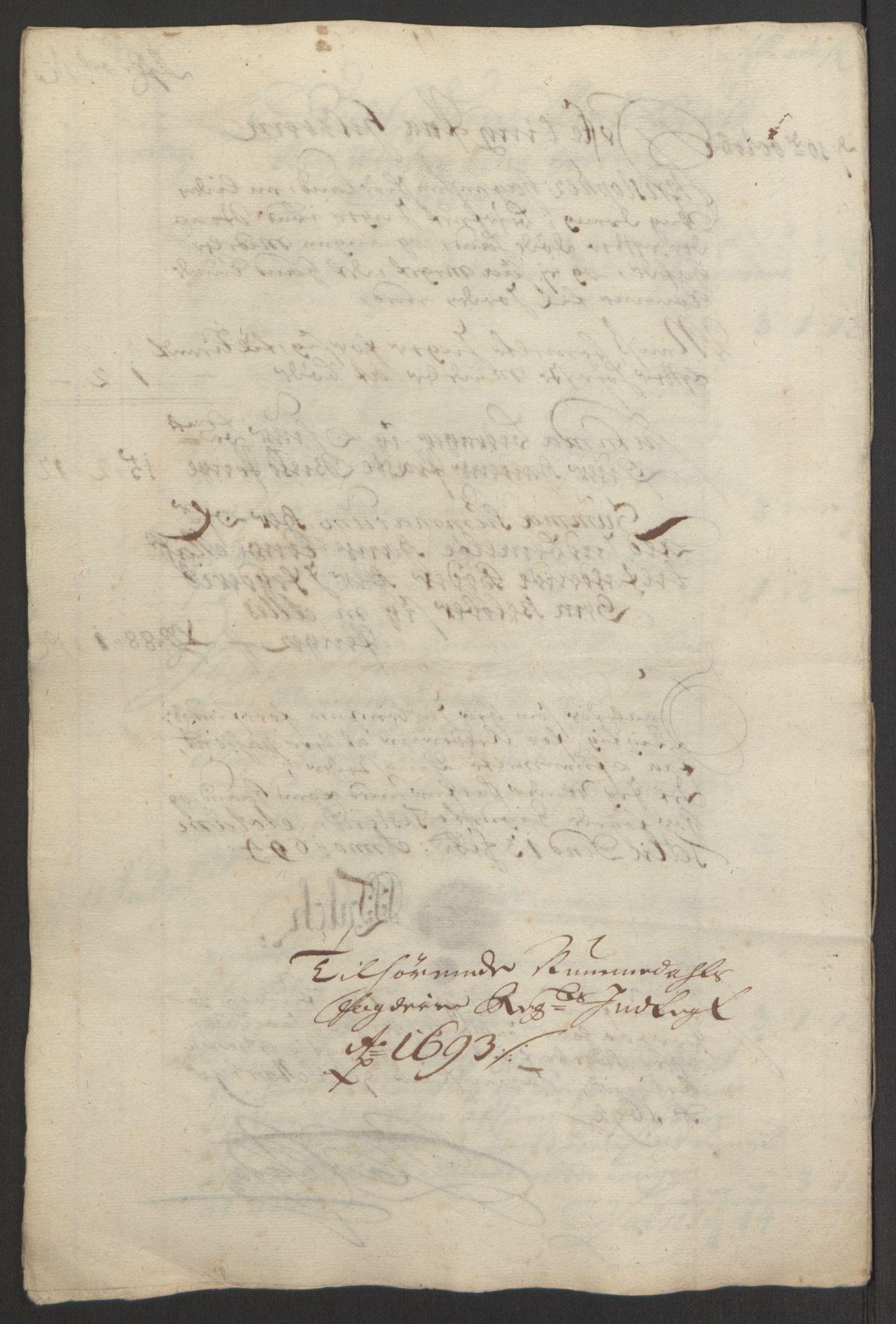 RA, Rentekammeret inntil 1814, Reviderte regnskaper, Fogderegnskap, R64/L4424: Fogderegnskap Namdal, 1692-1695, s. 310