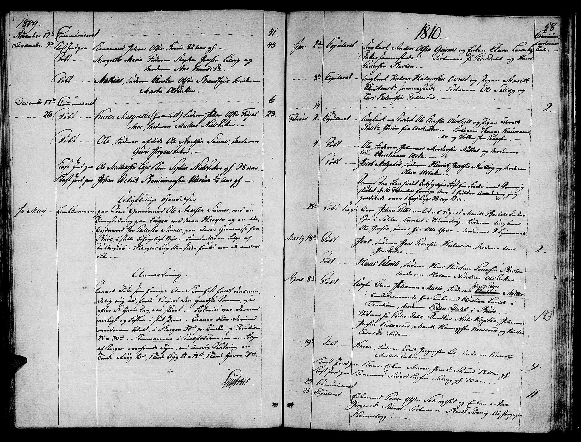 SAT, Ministerialprotokoller, klokkerbøker og fødselsregistre - Nord-Trøndelag, 780/L0633: Ministerialbok nr. 780A02 /1, 1787-1814, s. 58