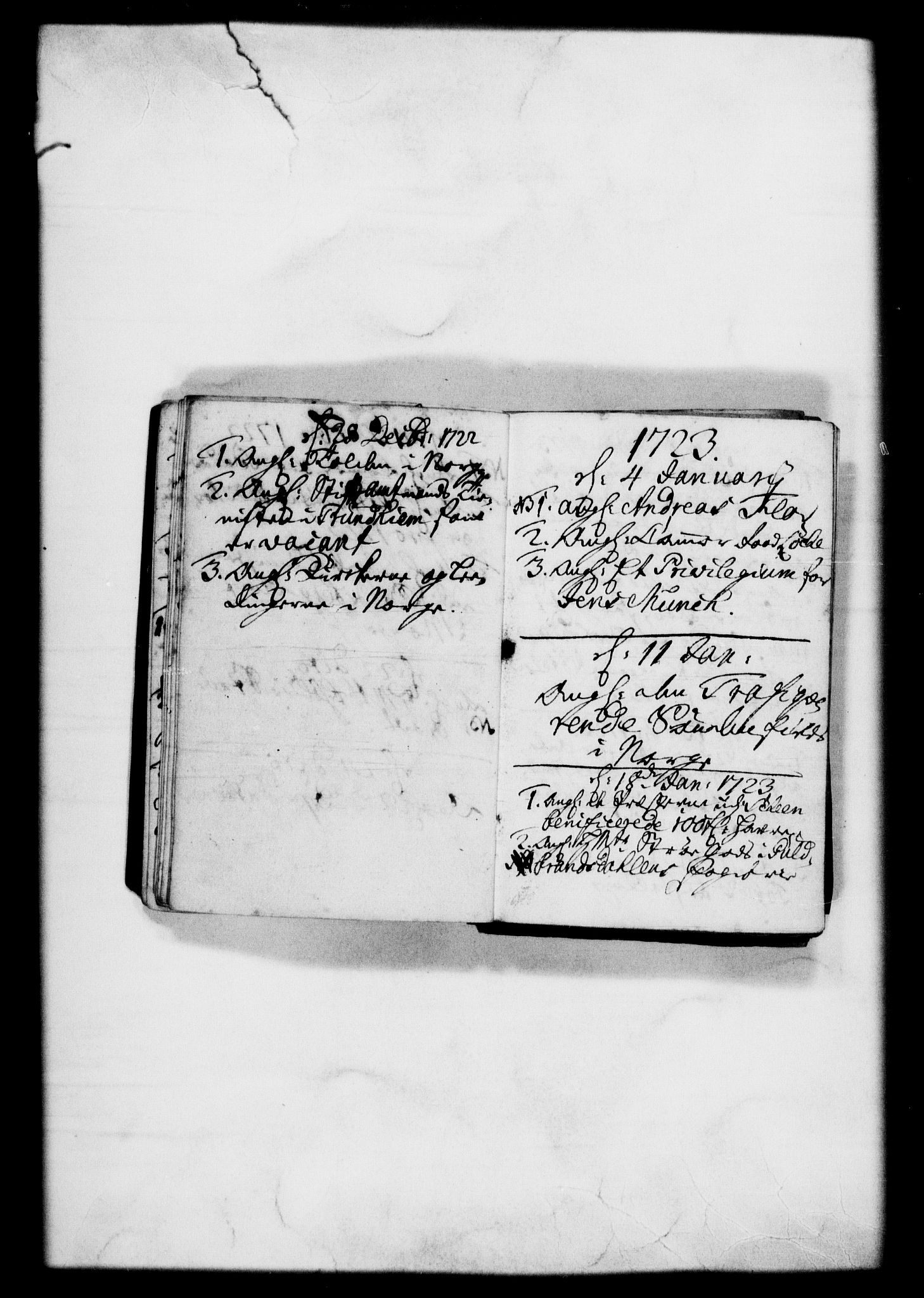 RA, Rentekammeret, Kammerkanselliet, G/Gf/Gfb/L0001: Register til norske relasjons- og resolusjonsprotokoller (merket RK 52.96), 1720-1749, s. 25