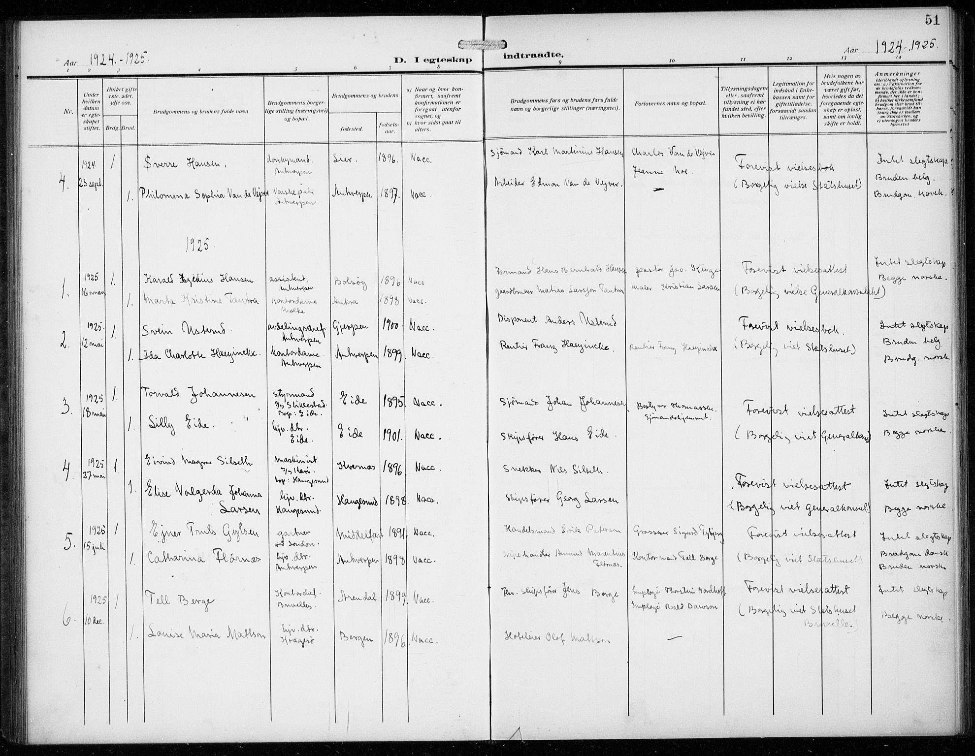 SAB, Den Norske Sjømannsmisjon i utlandet*, Ministerialbok nr. A 3, 1914-1930, s. 51