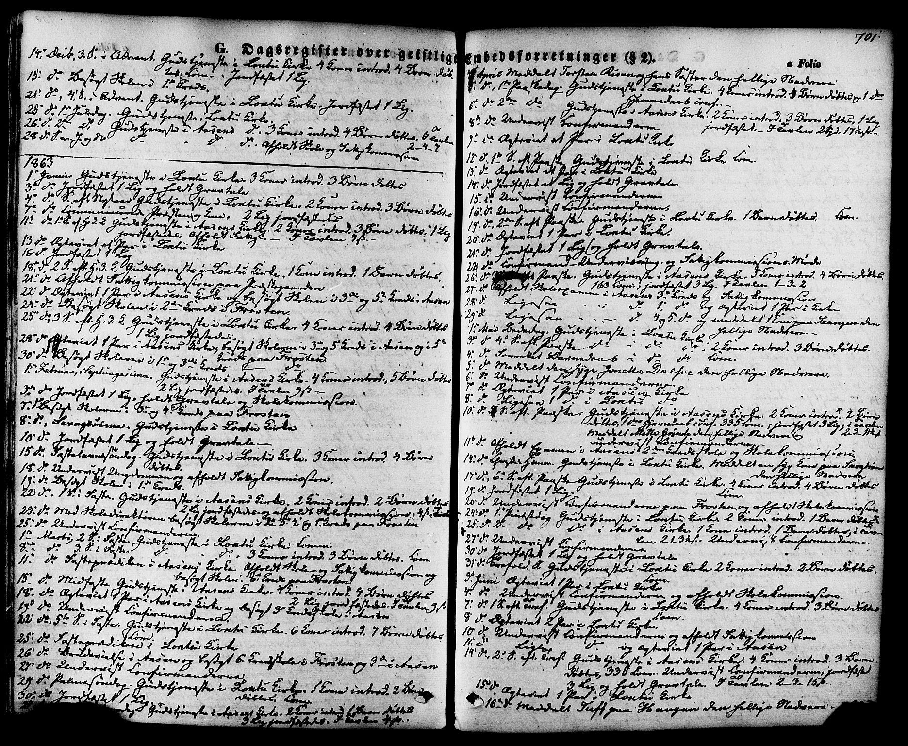 SAT, Ministerialprotokoller, klokkerbøker og fødselsregistre - Nord-Trøndelag, 713/L0116: Ministerialbok nr. 713A07 /1, 1850-1877, s. 701