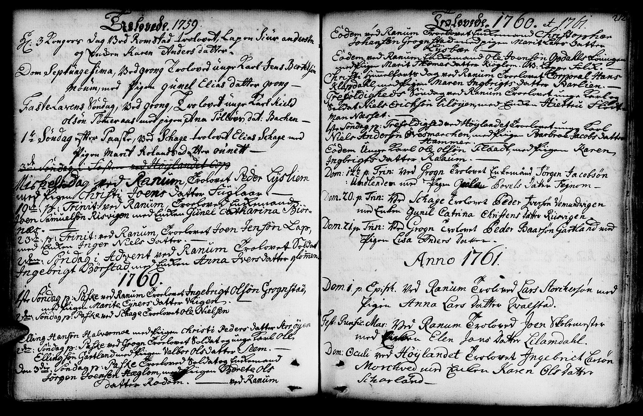 SAT, Ministerialprotokoller, klokkerbøker og fødselsregistre - Nord-Trøndelag, 764/L0542: Ministerialbok nr. 764A02, 1748-1779, s. 212