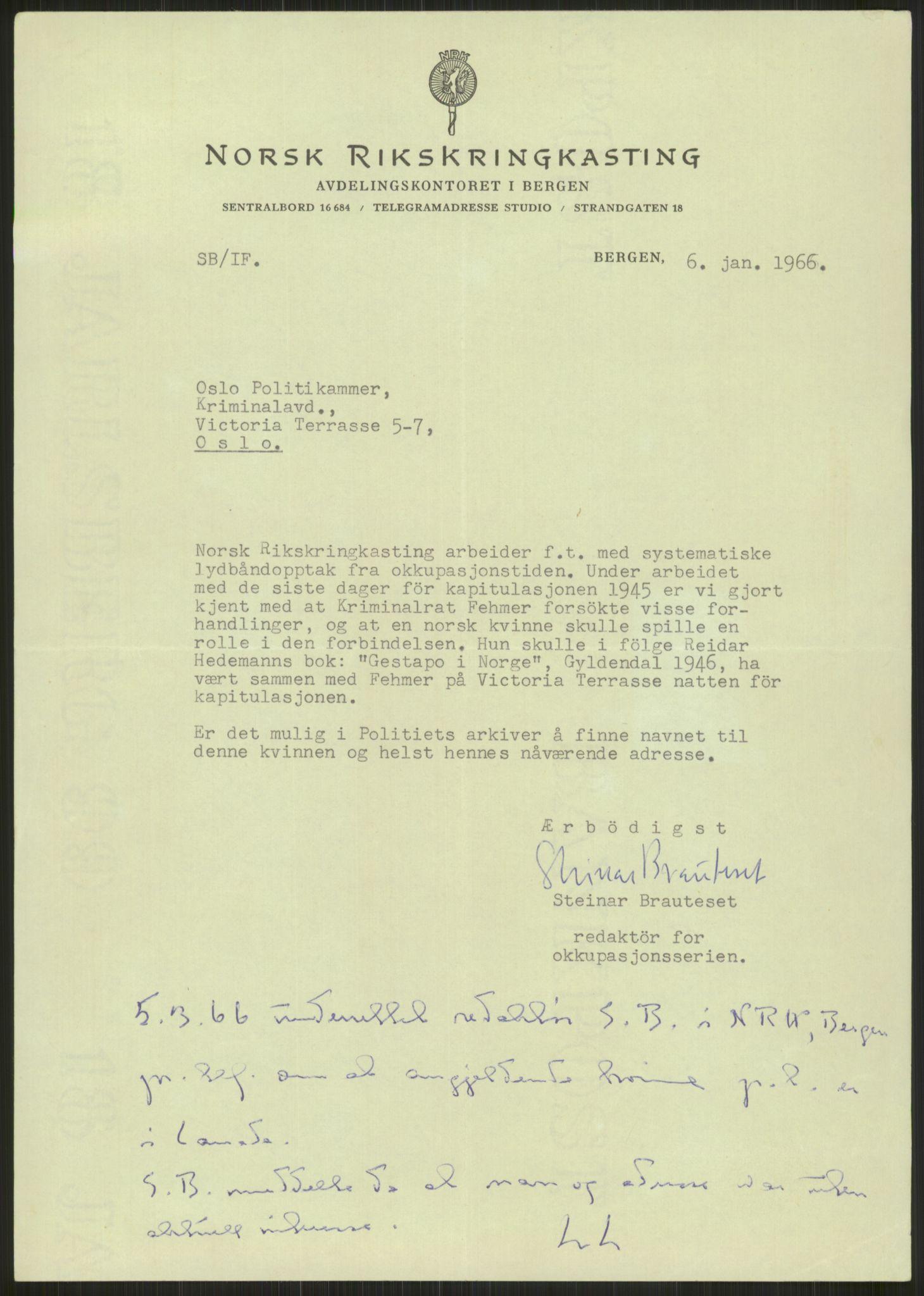 RA, Landssvikarkivet, Oslo politikammer, D/Dg/L0267: Henlagt hnr. 3658, 1945-1946, s. 7