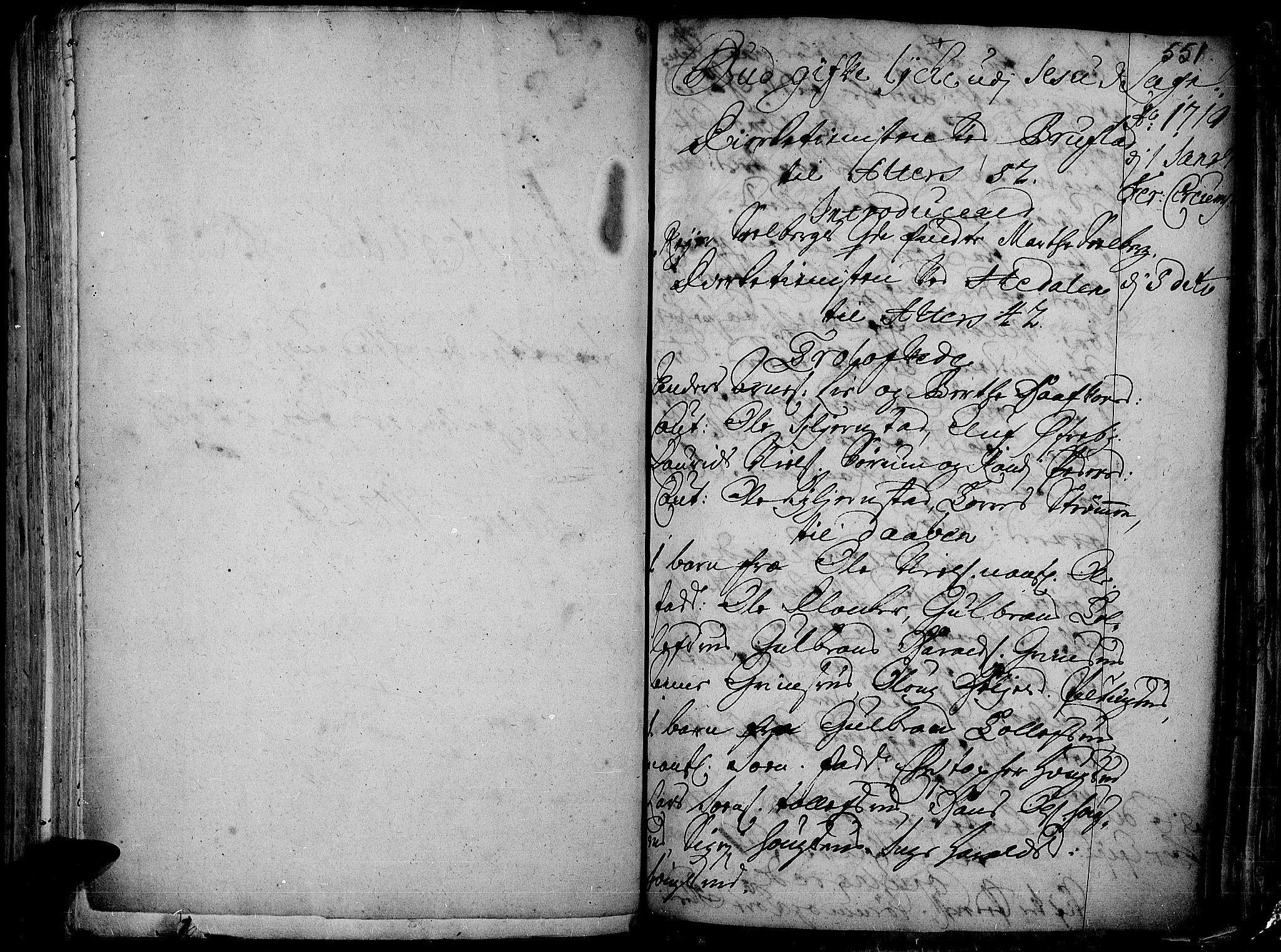 SAH, Aurdal prestekontor, Ministerialbok nr. 1-3, 1692-1730, s. 551