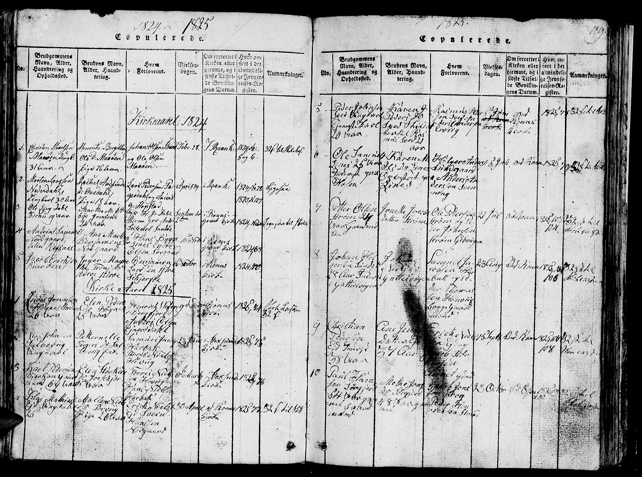 SAT, Ministerialprotokoller, klokkerbøker og fødselsregistre - Sør-Trøndelag, 657/L0714: Klokkerbok nr. 657C01, 1818-1868, s. 189