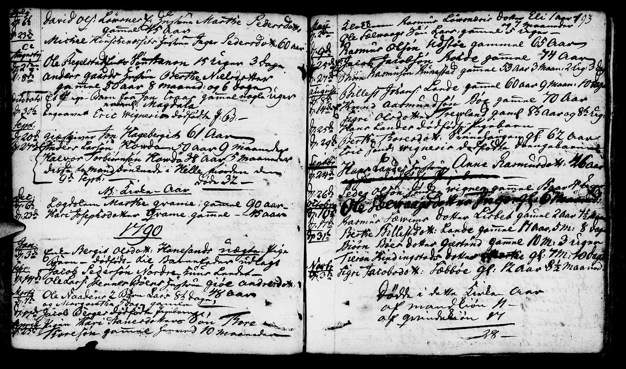 SAST, Finnøy sokneprestkontor, H/Ha/Haa/L0005: Ministerialbok nr. A 5, 1773-1816, s. 193