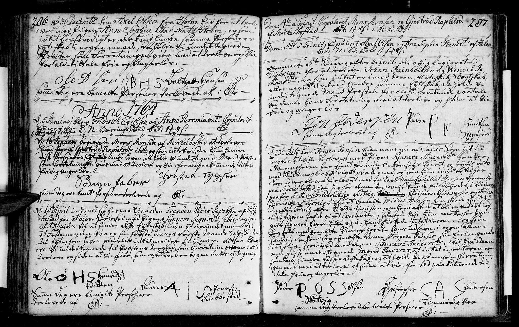 SATØ, Tranøy sokneprestkontor, I/Ia/Iaa/L0001kirke: Ministerialbok nr. 1, 1757-1773, s. 286-287