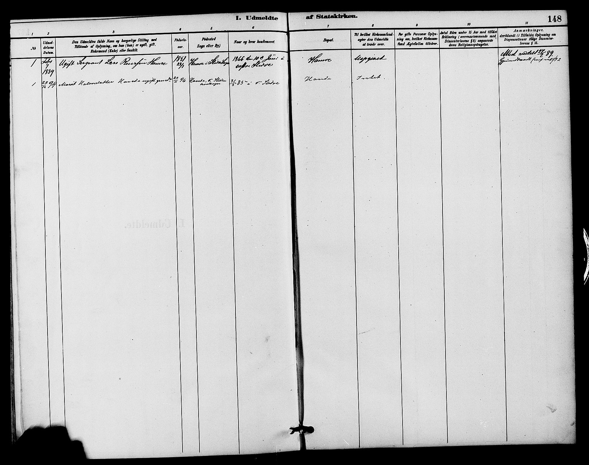 SAH, Vestre Slidre prestekontor, Klokkerbok nr. 4, 1881-1912, s. 148