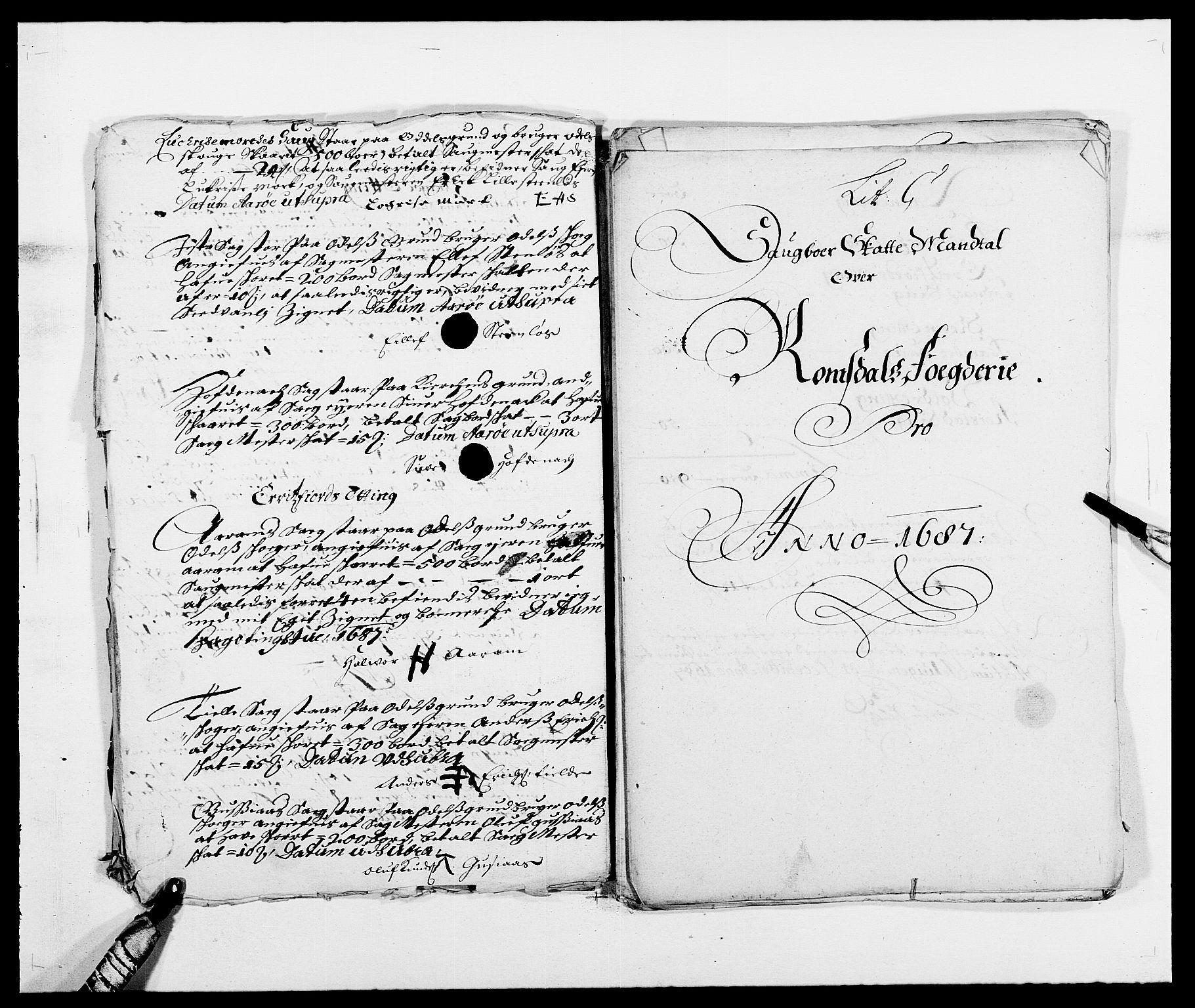 RA, Rentekammeret inntil 1814, Reviderte regnskaper, Fogderegnskap, R55/L3648: Fogderegnskap Romsdal, 1687-1689, s. 65