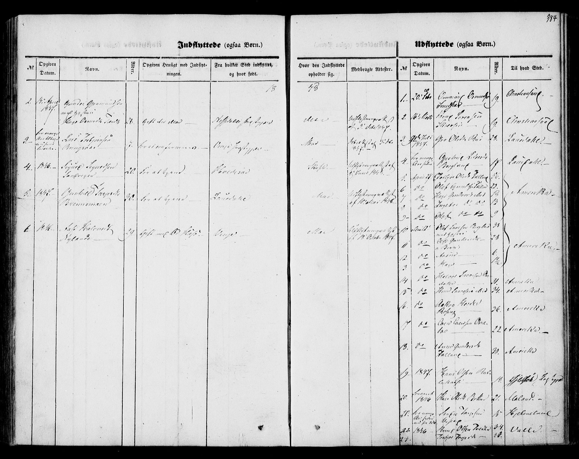 SAKO, Mo kirkebøker, F/Fa/L0005: Ministerialbok nr. I 5, 1844-1864, s. 384