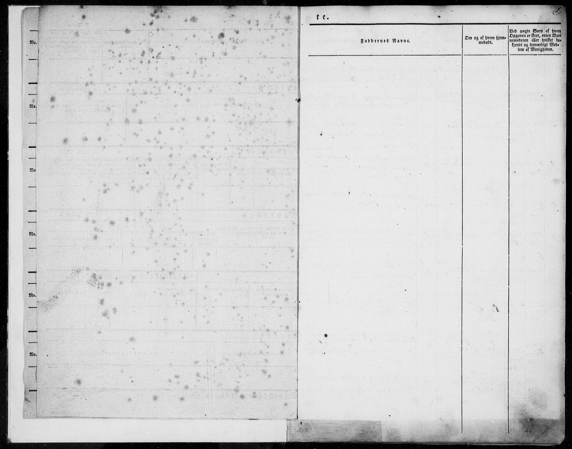 SAT, Ministerialprotokoller, klokkerbøker og fødselsregistre - Møre og Romsdal, 558/L0689: Ministerialbok nr. 558A03, 1843-1872, s. 1