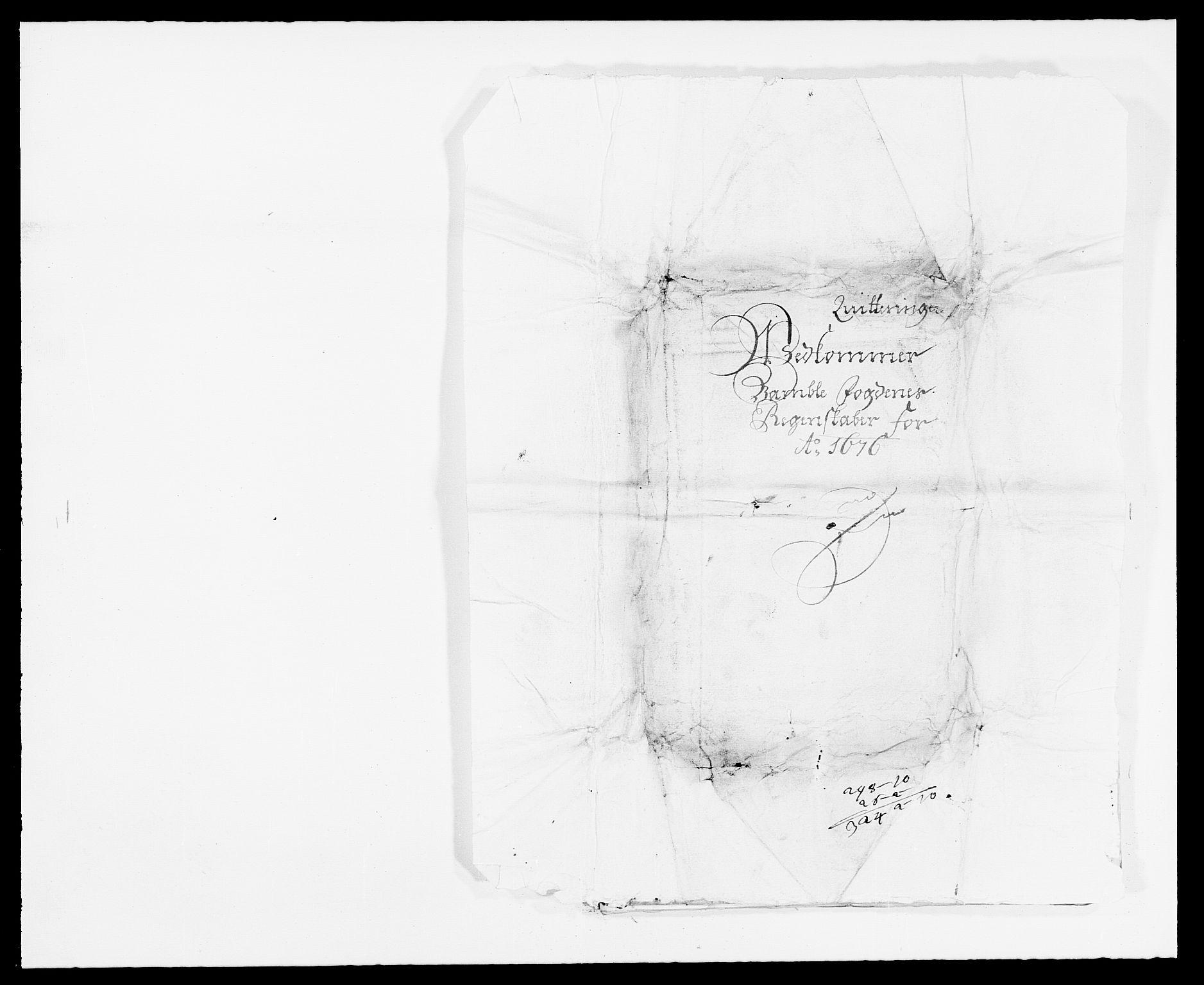 RA, Rentekammeret inntil 1814, Reviderte regnskaper, Fogderegnskap, R34/L2043: Fogderegnskap Bamble, 1676-1677, s. 195