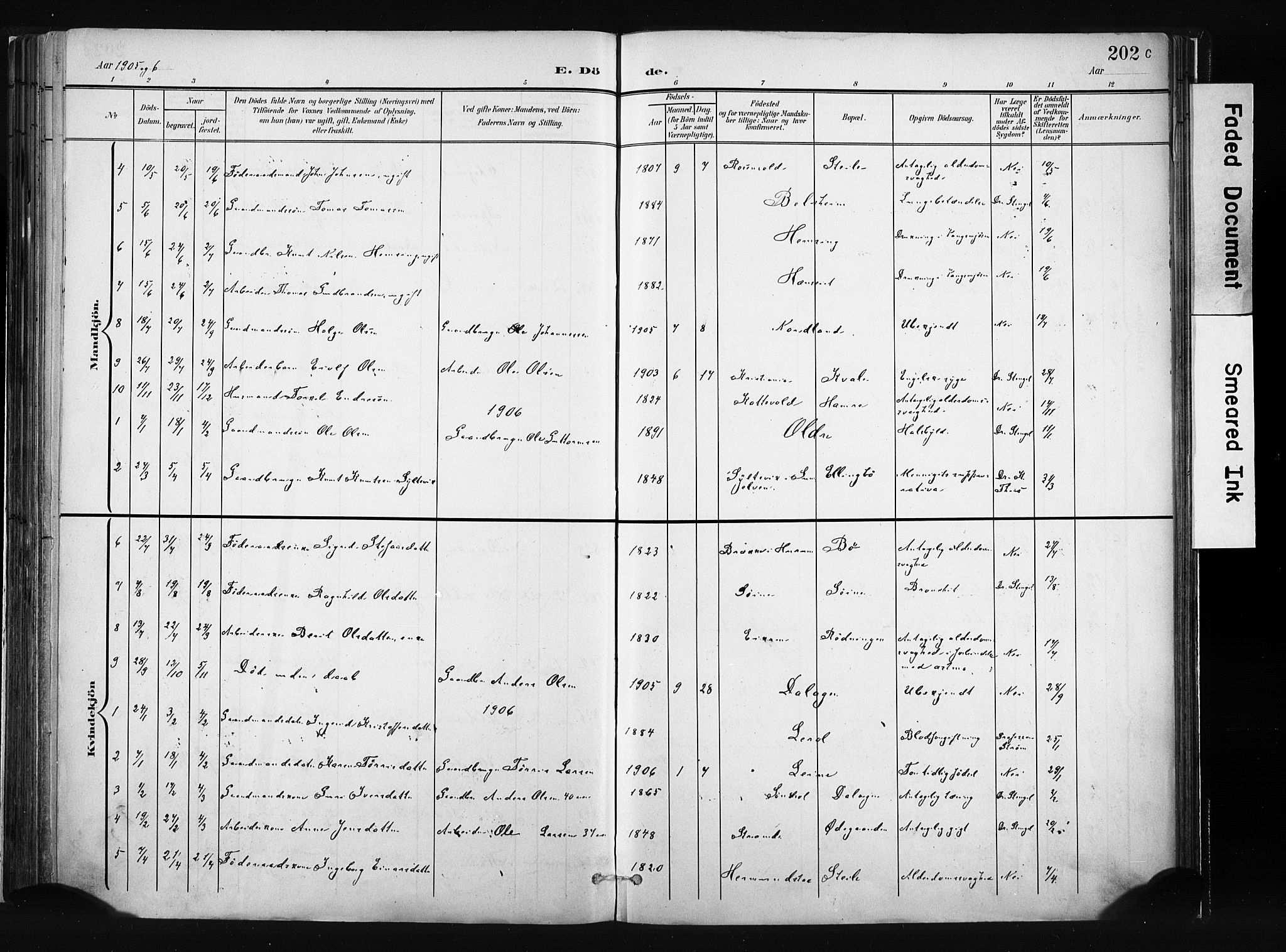 SAH, Vang prestekontor, Valdres, Ministerialbok nr. 8, 1882-1910, s. 202