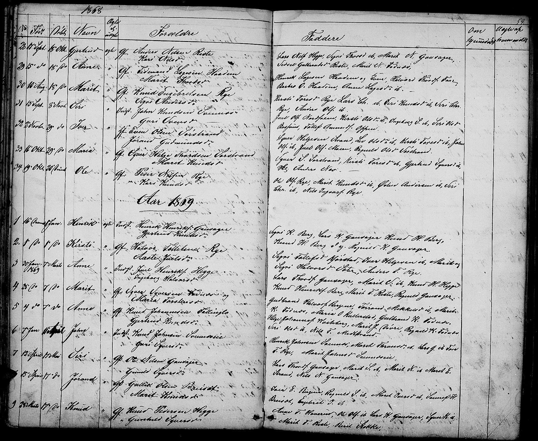 SAH, Nord-Aurdal prestekontor, Klokkerbok nr. 3, 1842-1882, s. 60