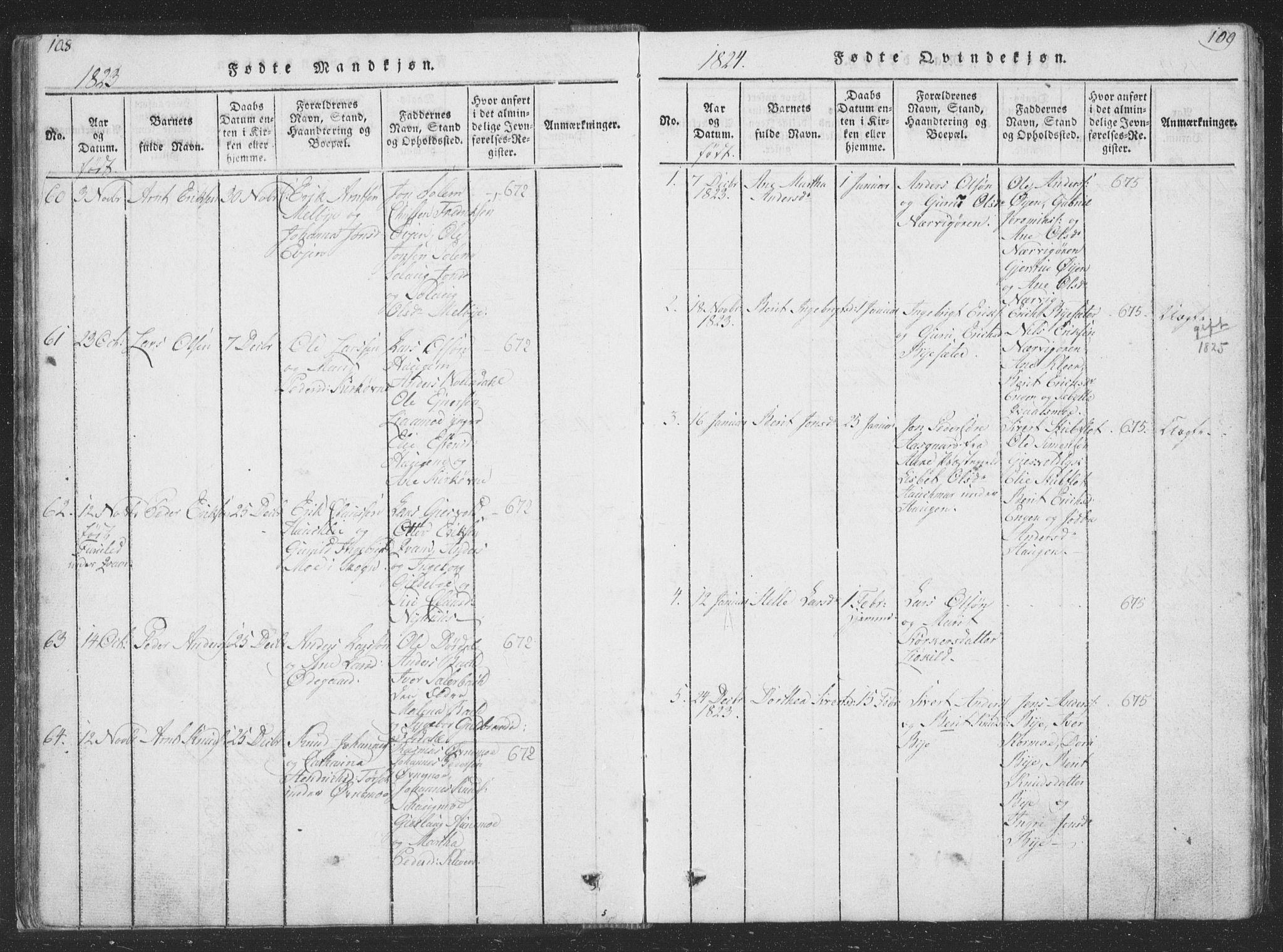 SAT, Ministerialprotokoller, klokkerbøker og fødselsregistre - Sør-Trøndelag, 668/L0816: Klokkerbok nr. 668C05, 1816-1893, s. 108-109