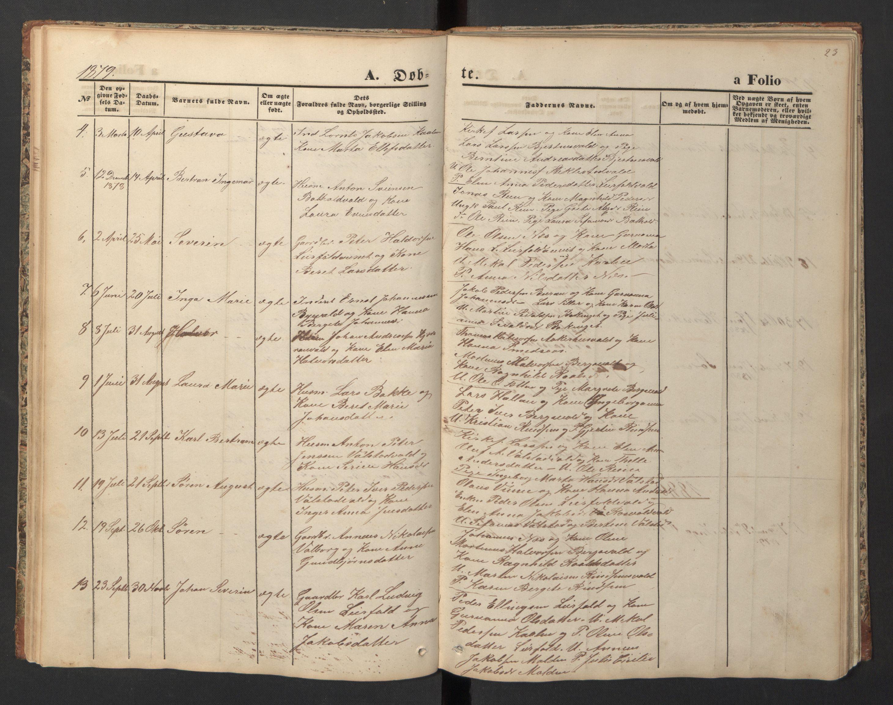 SAT, Ministerialprotokoller, klokkerbøker og fødselsregistre - Nord-Trøndelag, 726/L0271: Klokkerbok nr. 726C02, 1869-1897, s. 23