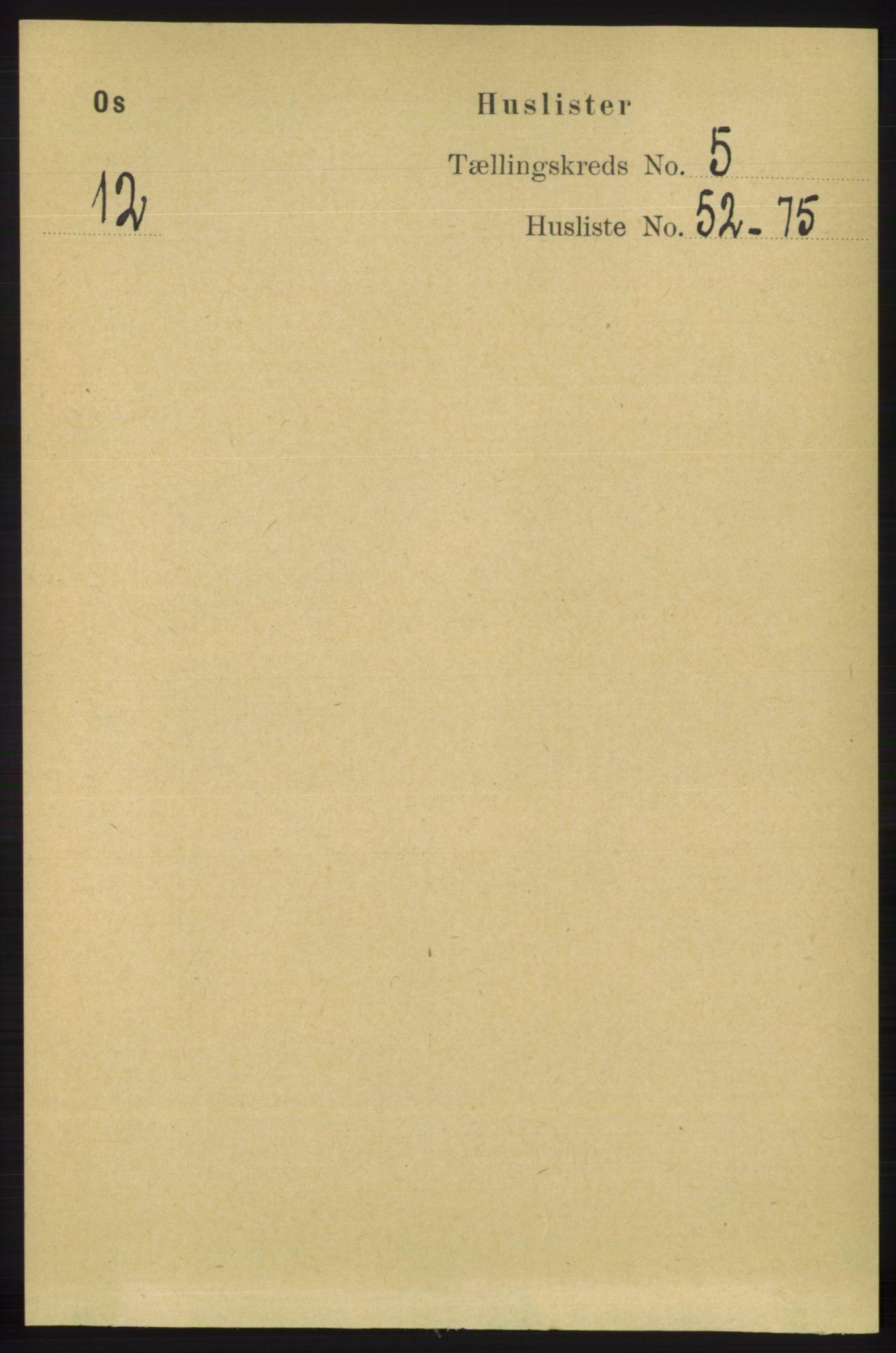 RA, Folketelling 1891 for 1243 Os herred, 1891, s. 1219