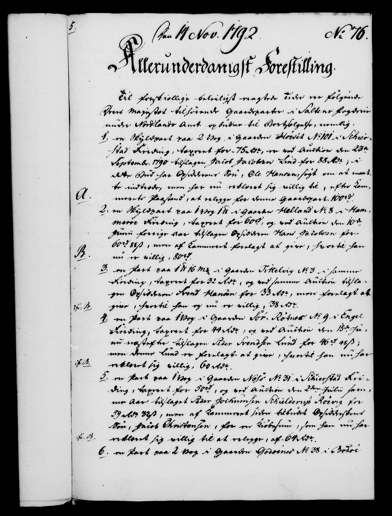 RA, Rentekammeret, Kammerkanselliet, G/Gf/Gfa/L0074: Norsk relasjons- og resolusjonsprotokoll (merket RK 52.74), 1792, s. 427
