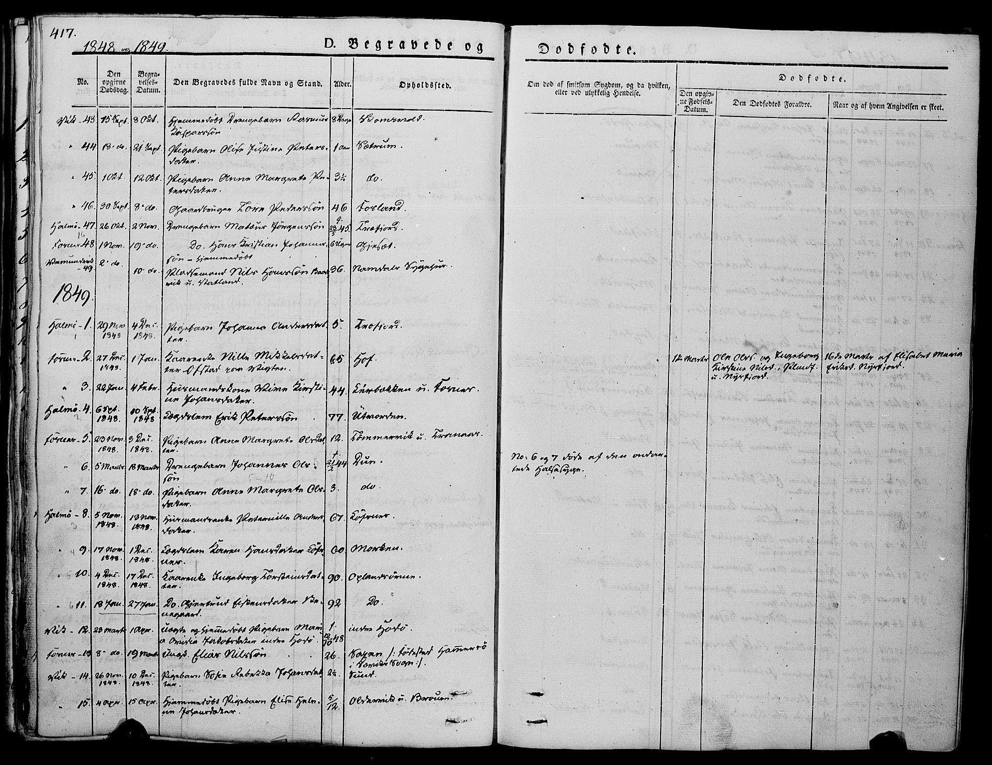 SAT, Ministerialprotokoller, klokkerbøker og fødselsregistre - Nord-Trøndelag, 773/L0614: Ministerialbok nr. 773A05, 1831-1856, s. 417