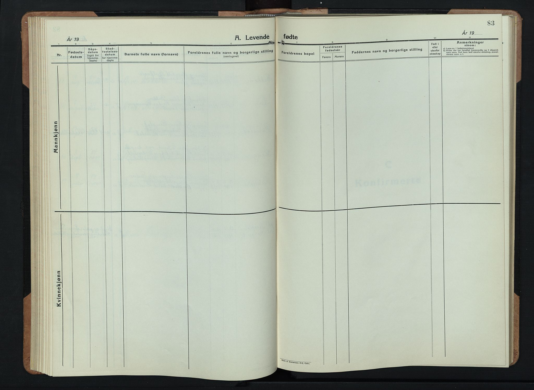 SAH, Skjåk prestekontor, Klokkerbok nr. 6, 1933-1954, s. 83