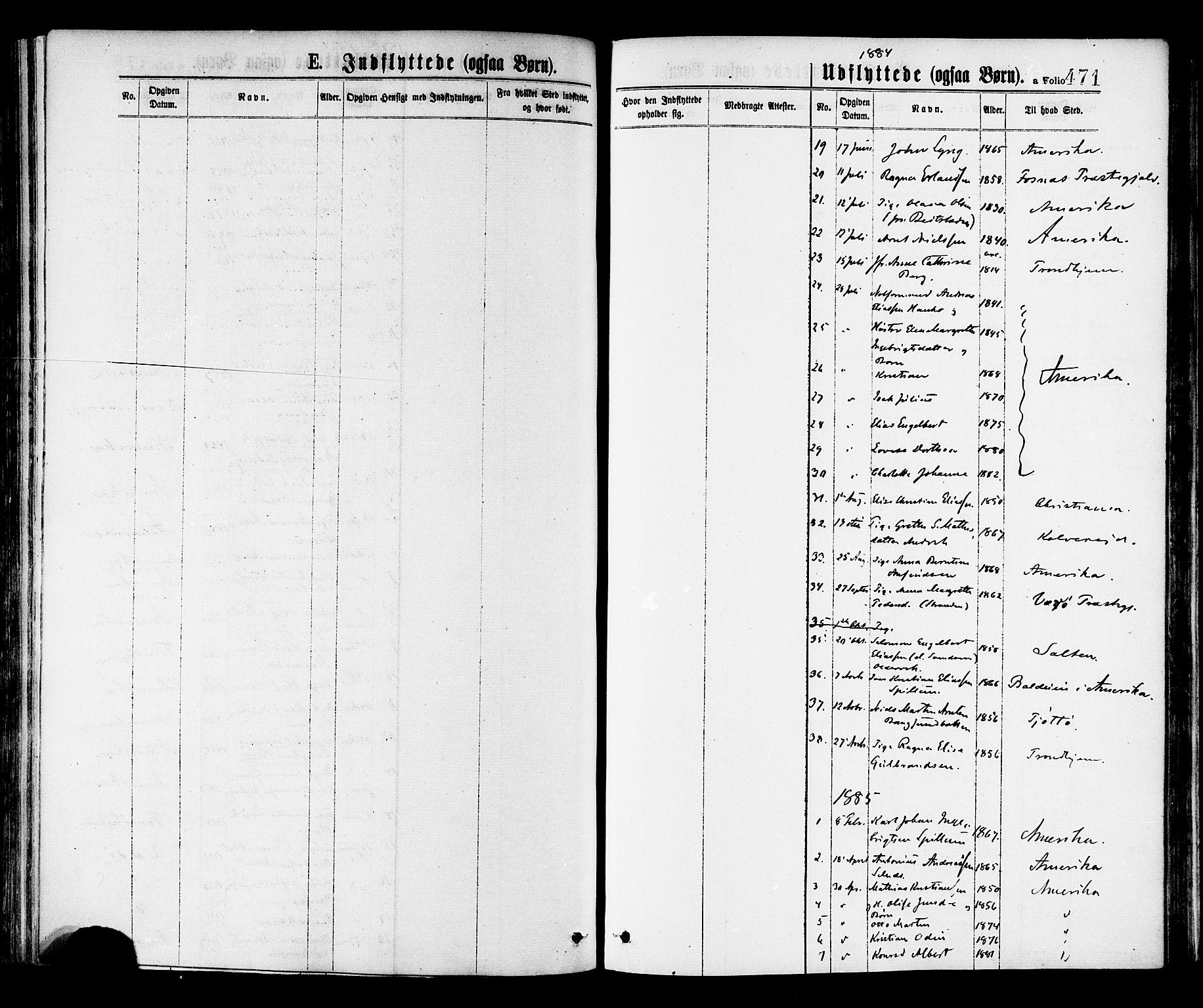 SAT, Ministerialprotokoller, klokkerbøker og fødselsregistre - Nord-Trøndelag, 768/L0572: Ministerialbok nr. 768A07, 1874-1886, s. 471