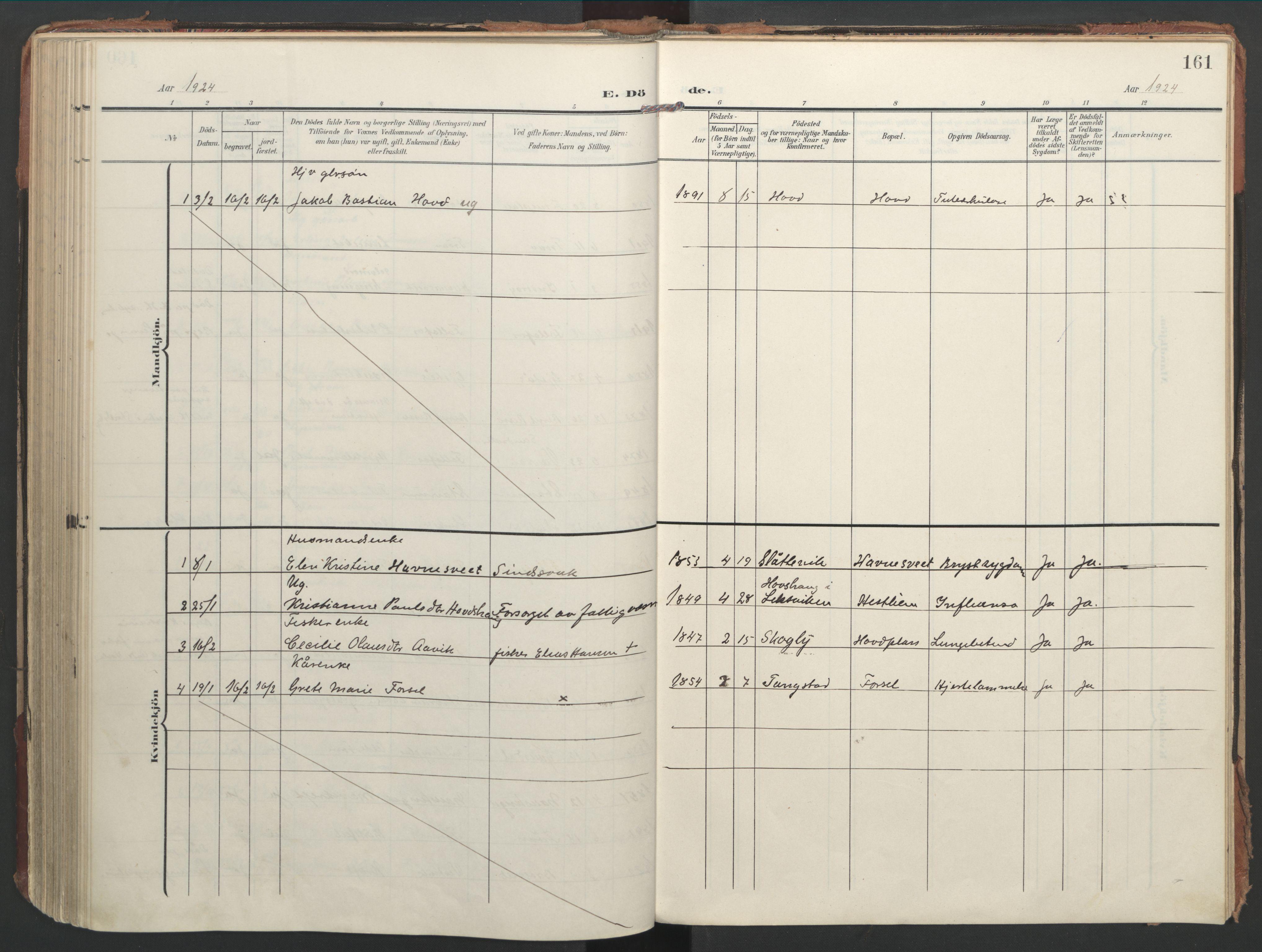 SAT, Ministerialprotokoller, klokkerbøker og fødselsregistre - Nord-Trøndelag, 744/L0421: Ministerialbok nr. 744A05, 1905-1930, s. 161