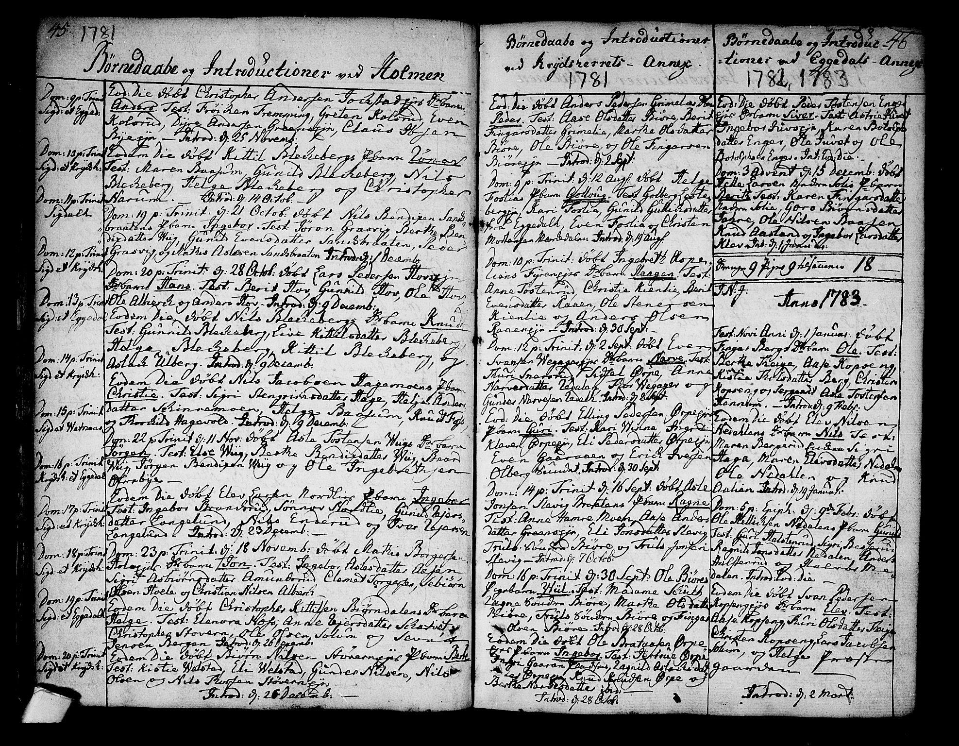 SAKO, Sigdal kirkebøker, F/Fa/L0002: Ministerialbok nr. I 2, 1778-1792, s. 45-46