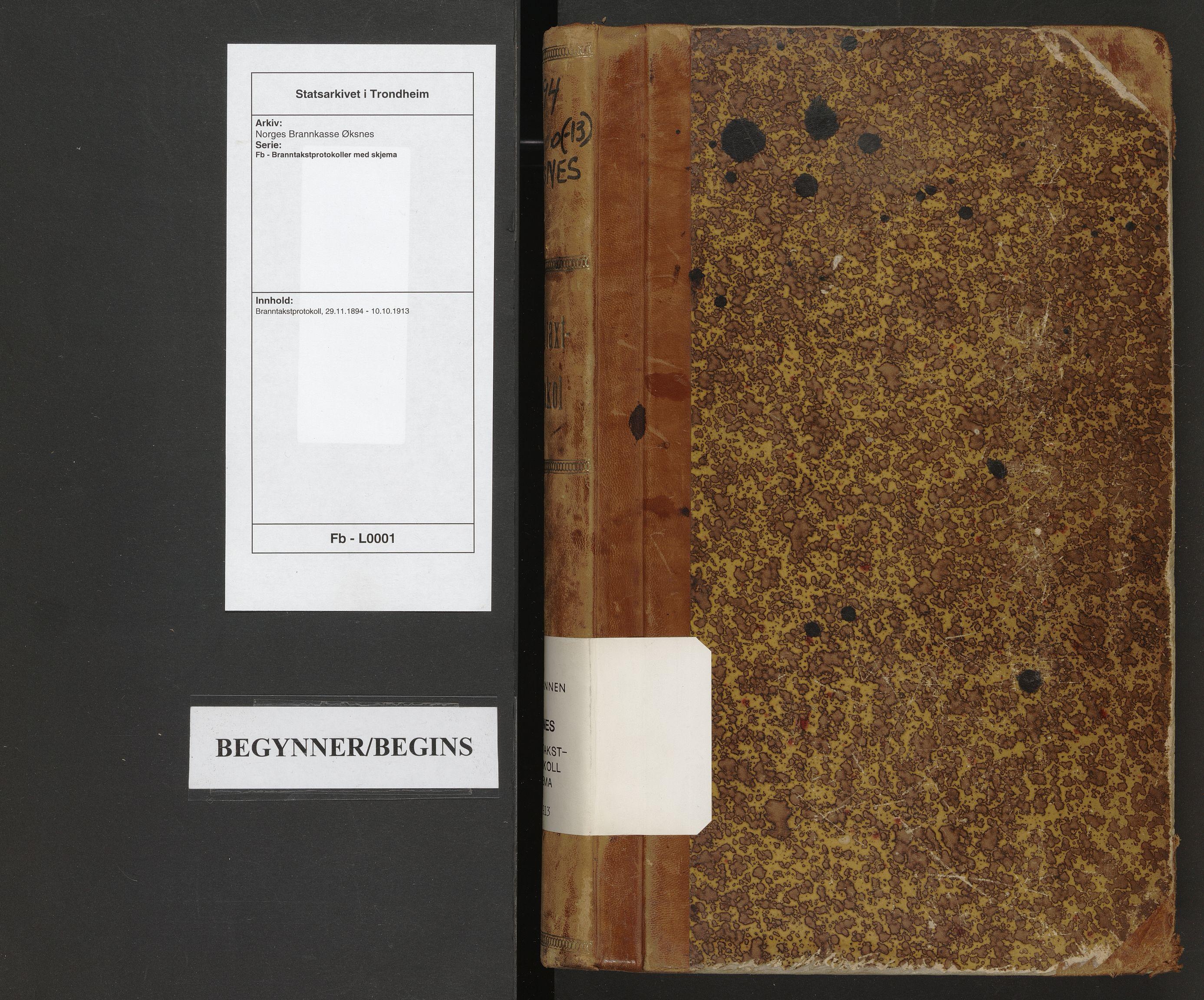 SAT, Norges Brannkasse Øksnes, Fb/L0001: Branntakstprotokoll, 1894-1913