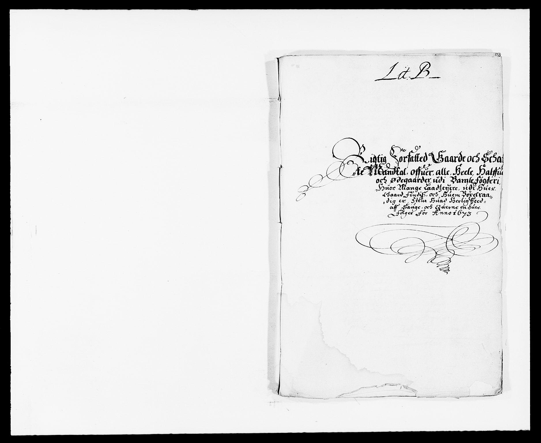 RA, Rentekammeret inntil 1814, Reviderte regnskaper, Fogderegnskap, R34/L2042: Fogderegnskap Bamble, 1673-1675, s. 4