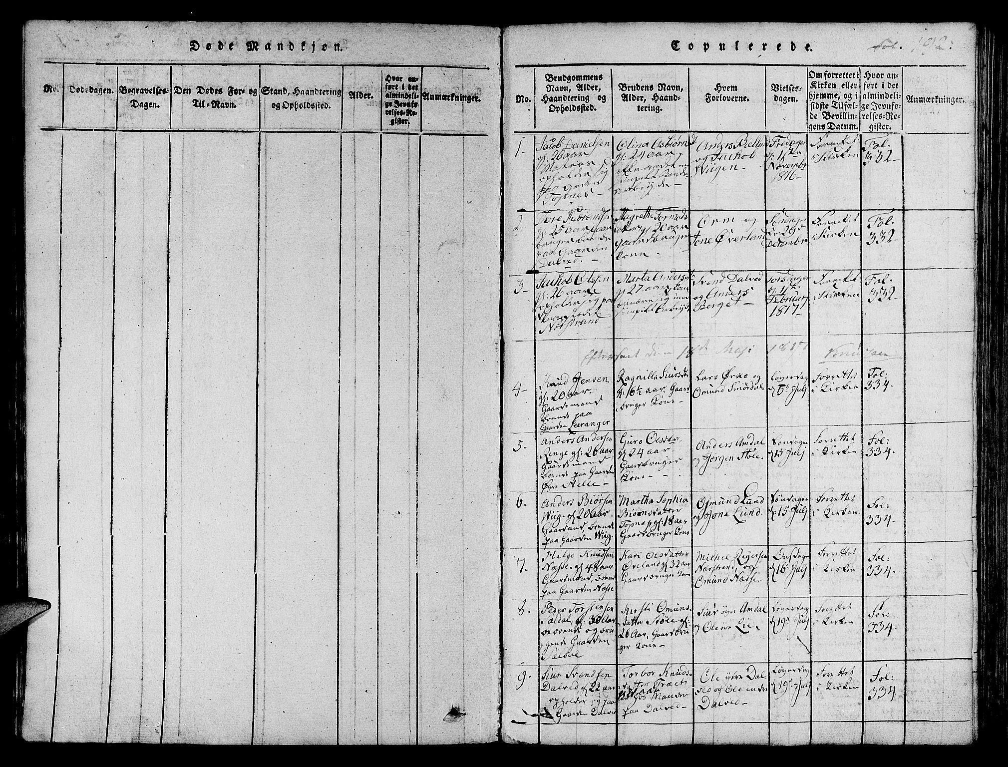 SAST, Nedstrand sokneprestkontor, IV: Ministerialbok nr. A 6, 1816-1838, s. 192