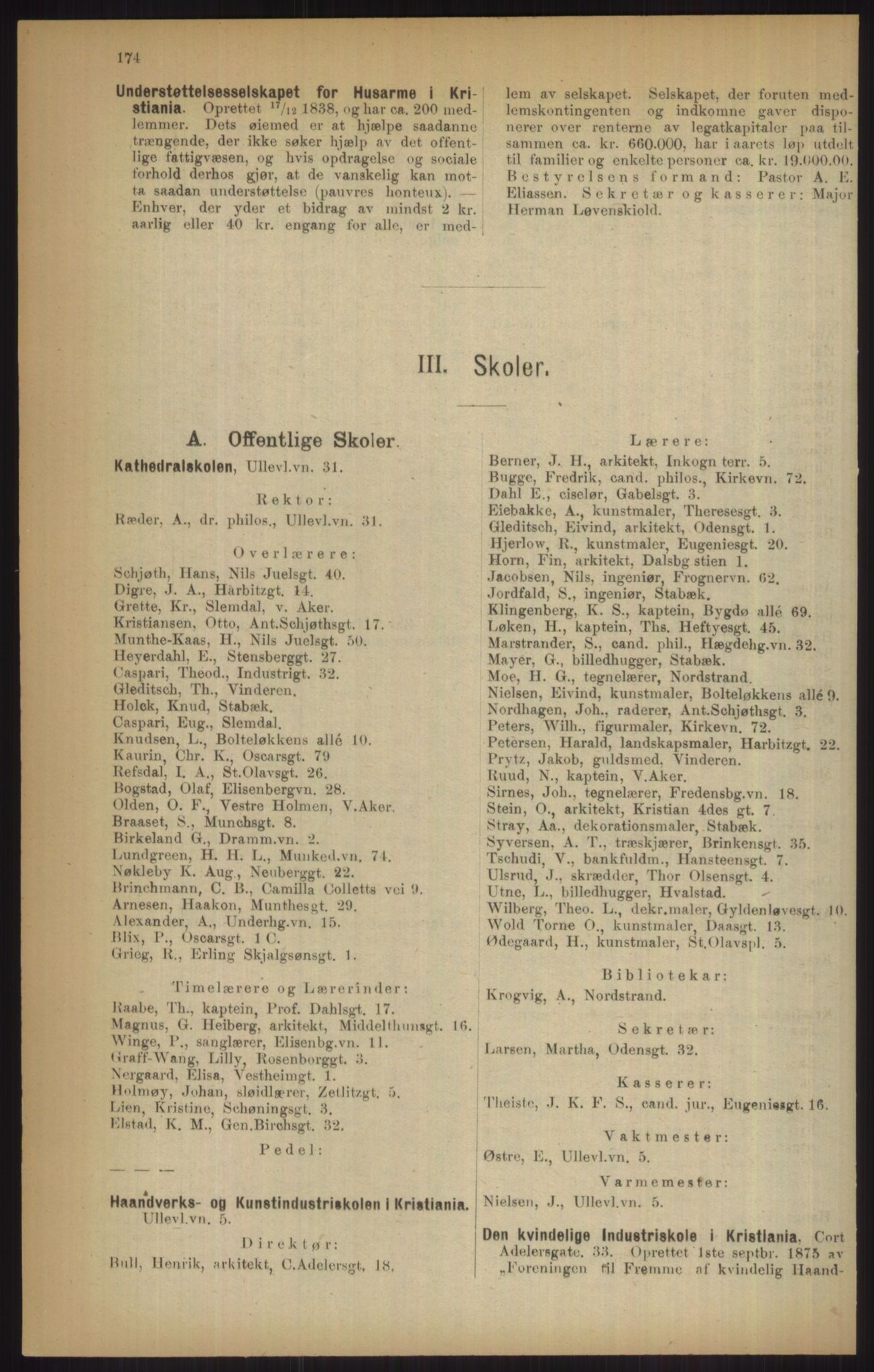 RA, Kristiania adressebok (publikasjon)*, 1915, s. 174
