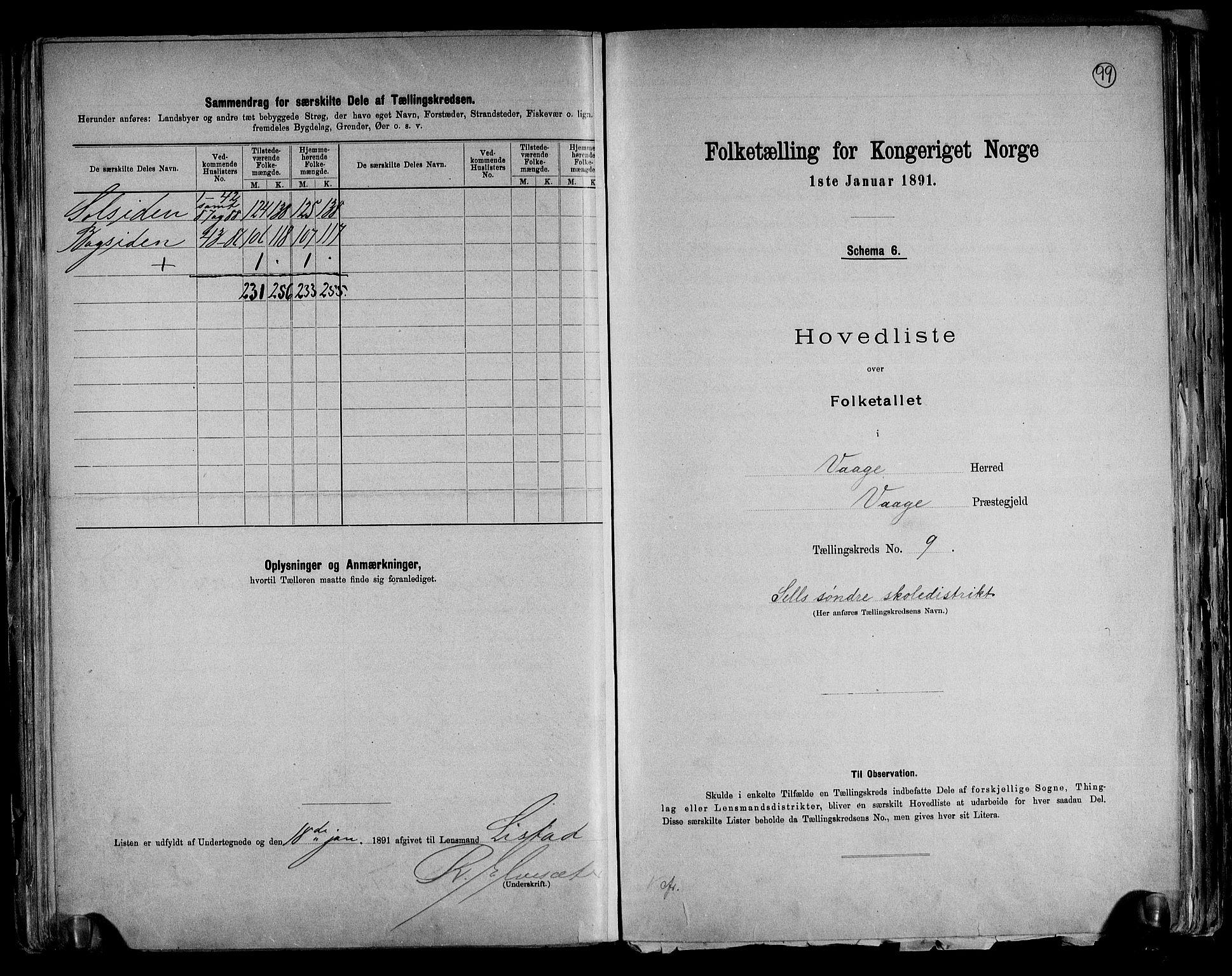RA, Folketelling 1891 for 0515 Vågå herred, 1891, s. 24