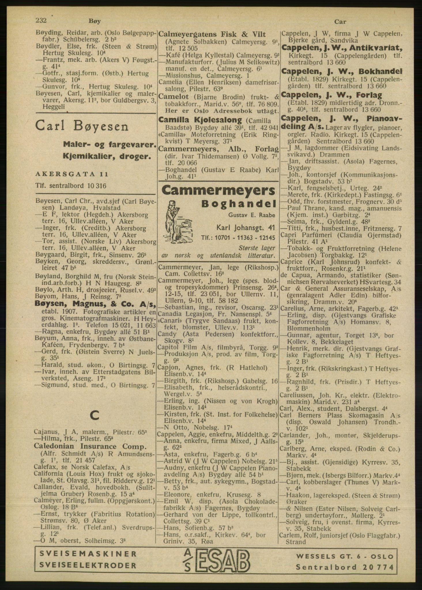 RA, Oslo adressebok (publikasjon)*, 1946, s. 232