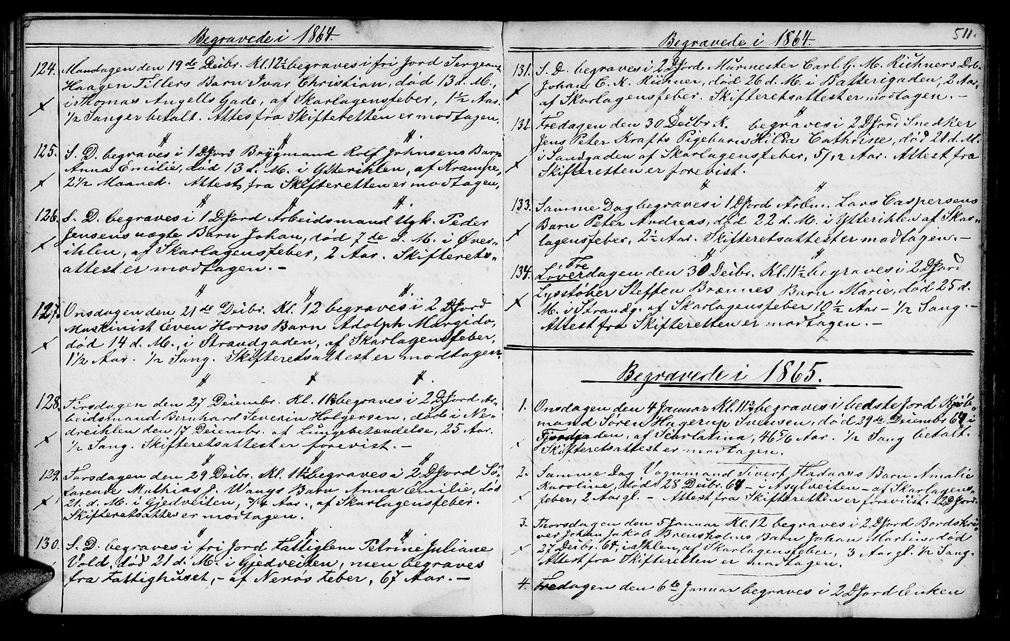 SAT, Ministerialprotokoller, klokkerbøker og fødselsregistre - Sør-Trøndelag, 602/L0140: Klokkerbok nr. 602C08, 1864-1872, s. 510-511