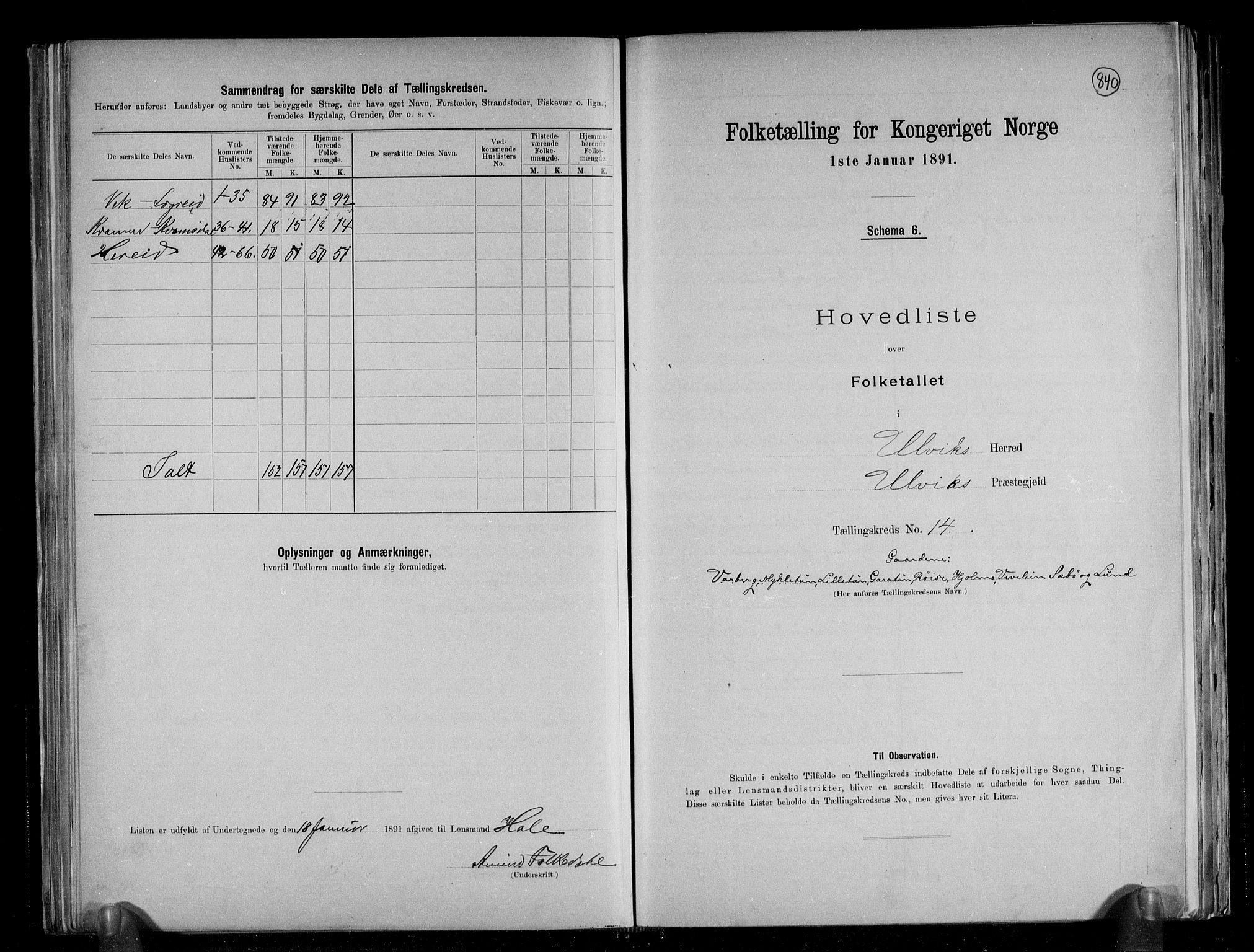 RA, Folketelling 1891 for 1233 Ulvik herred, 1891, s. 35