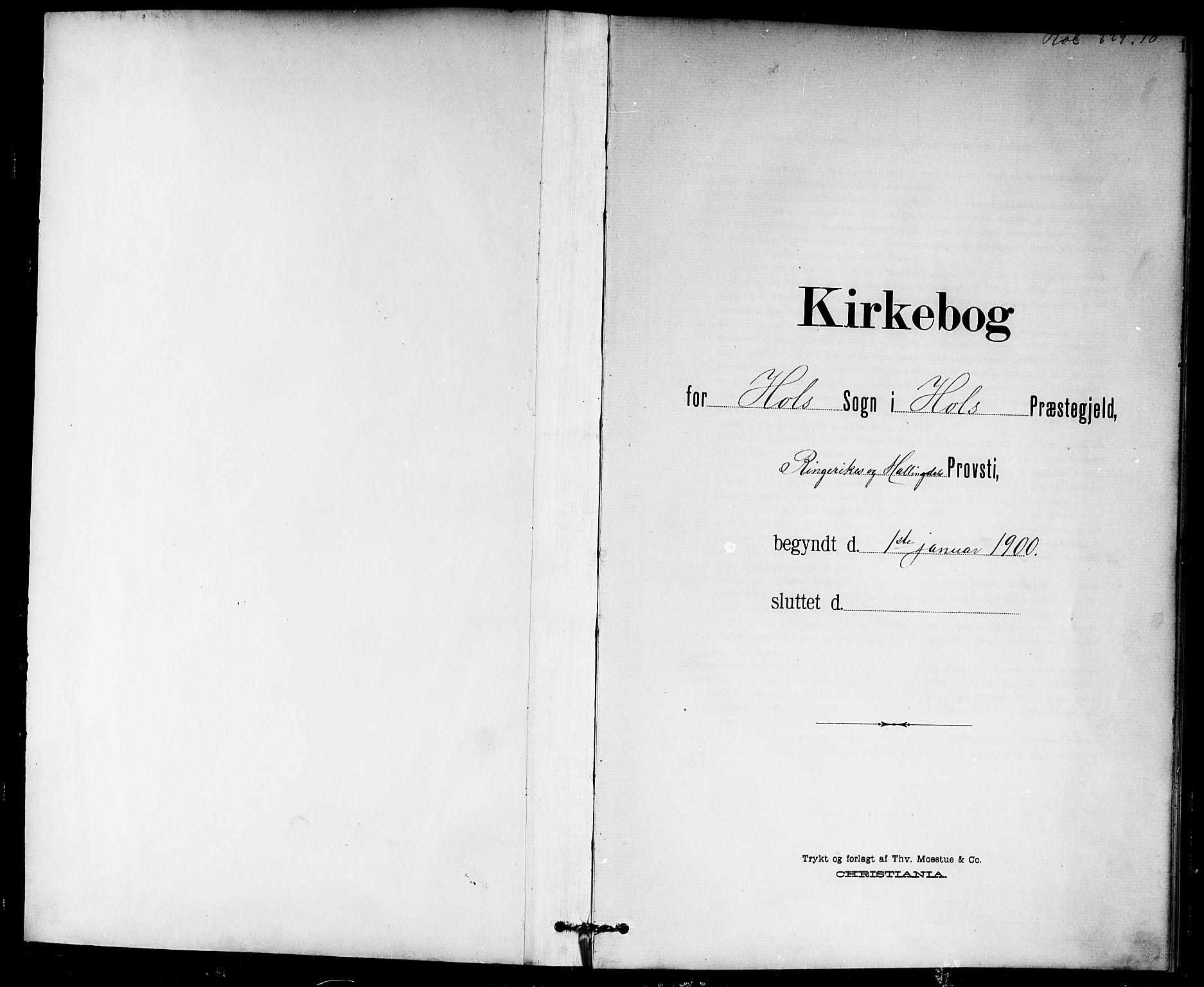 SAKO, Hol kirkebøker, G/Ga/L0001: Klokkerbok nr. I 1, 1900-1919, s. 1