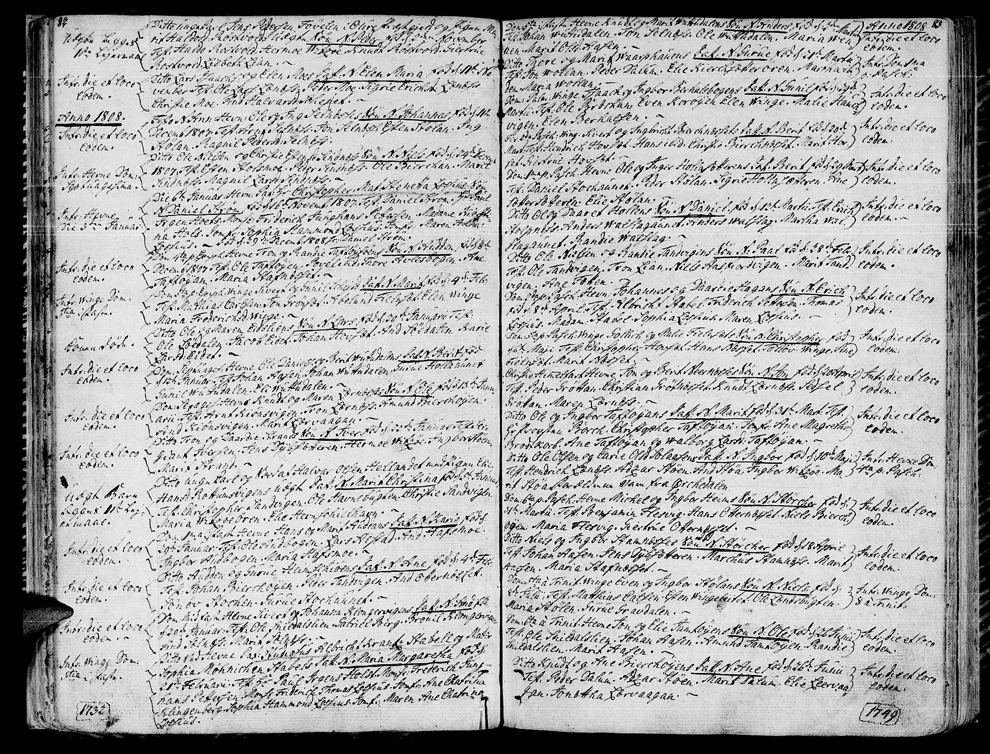 SAT, Ministerialprotokoller, klokkerbøker og fødselsregistre - Sør-Trøndelag, 630/L0490: Ministerialbok nr. 630A03, 1795-1818, s. 82-83