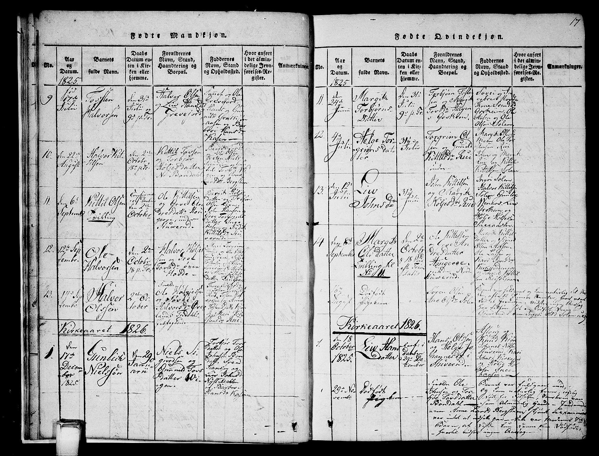 SAKO, Hjartdal kirkebøker, G/Gc/L0001: Klokkerbok nr. III 1, 1815-1842, s. 17