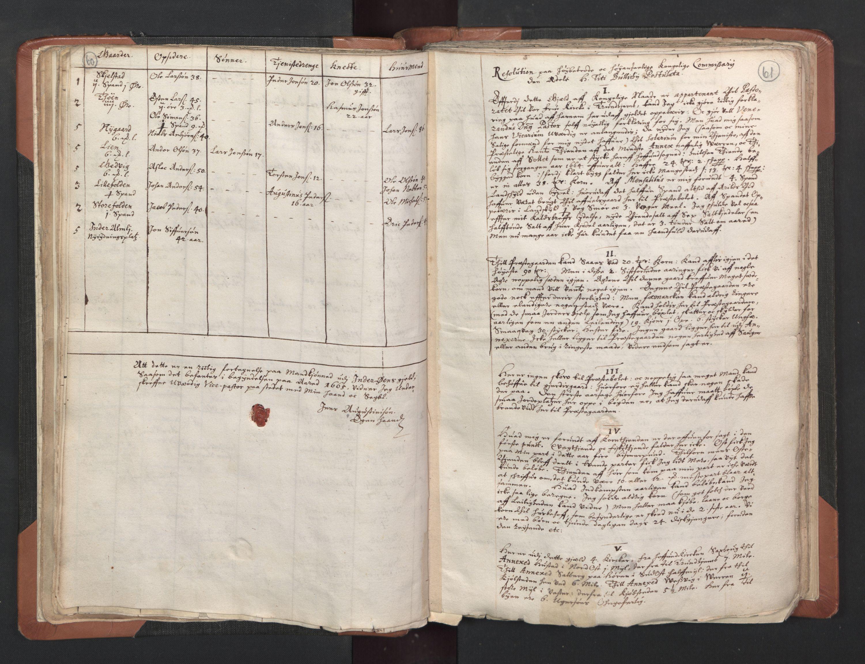 RA, Sogneprestenes manntall 1664-1666, nr. 33: Innherad prosti, 1664-1666, s. 60-61