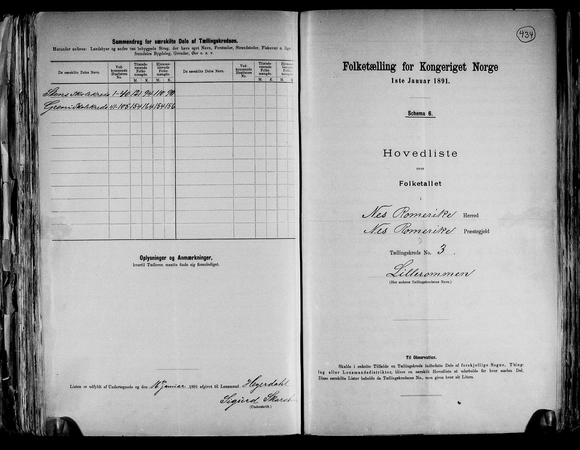 RA, Folketelling 1891 for 0236 Nes herred, 1891, s. 12