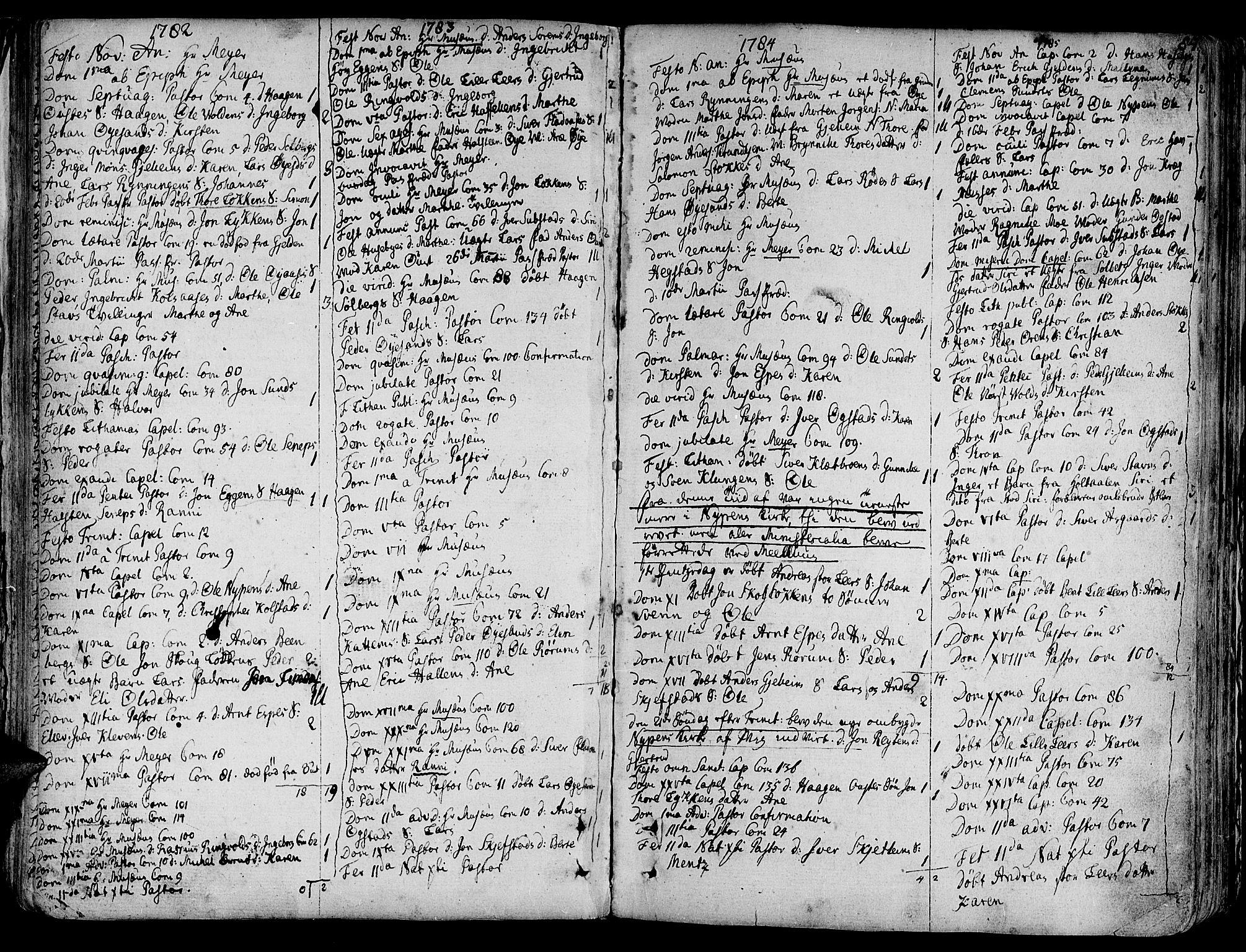 SAT, Ministerialprotokoller, klokkerbøker og fødselsregistre - Sør-Trøndelag, 691/L1063: Ministerialbok nr. 691A02 /3, 1768-1815, s. 84