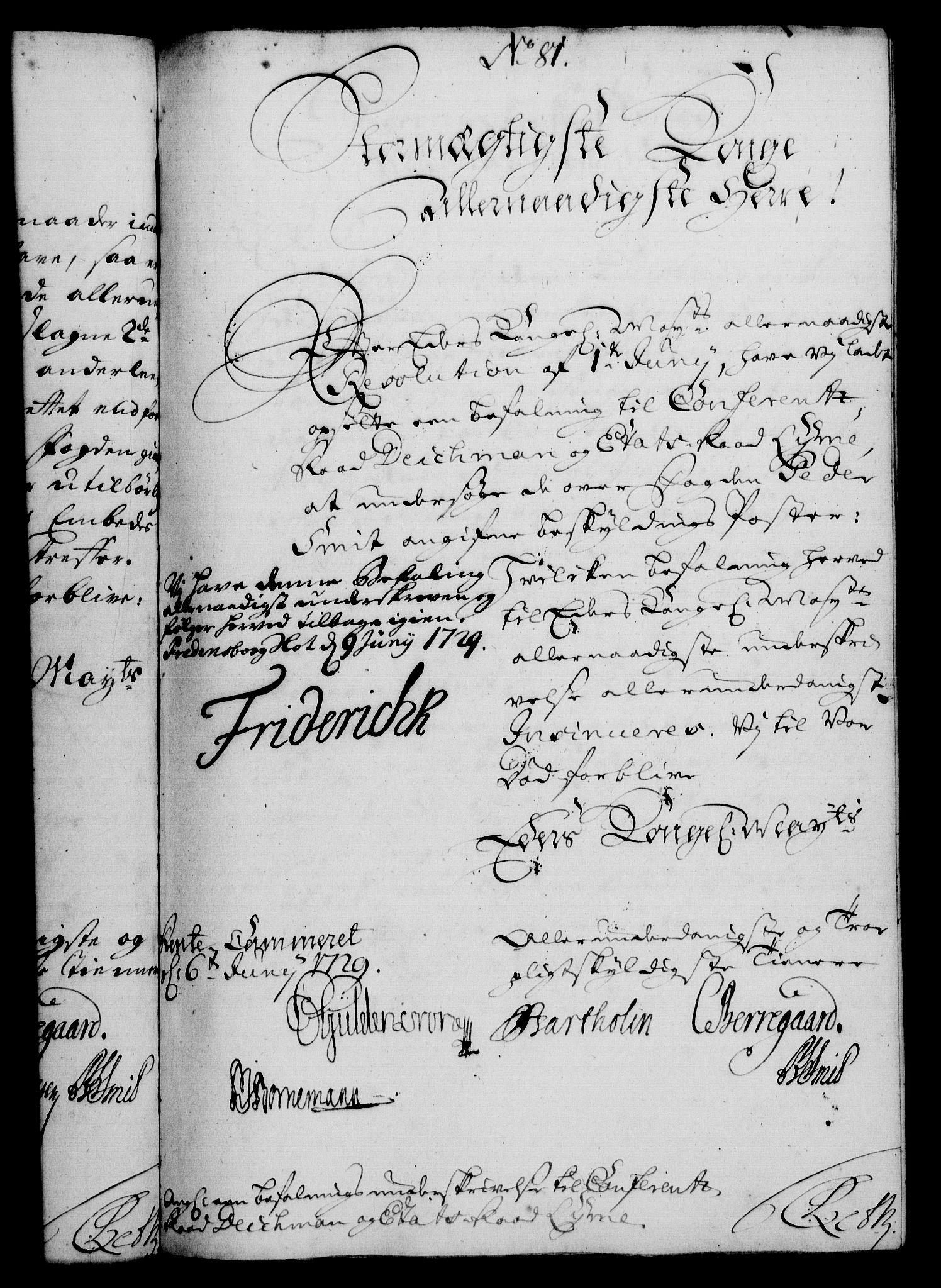RA, Rentekammeret, Kammerkanselliet, G/Gf/Gfa/L0012: Norsk relasjons- og resolusjonsprotokoll (merket RK 52.12), 1729, s. 411
