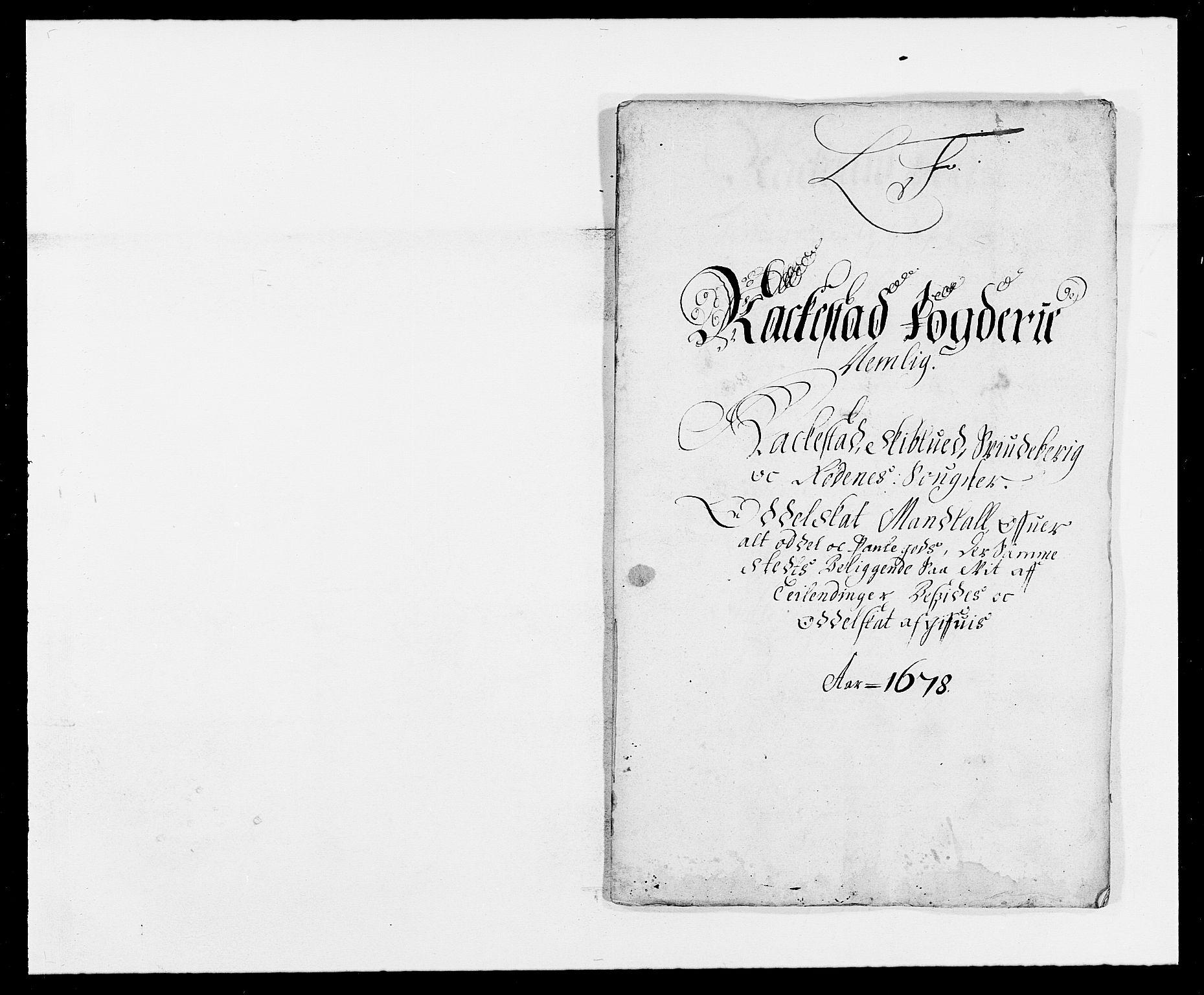 RA, Rentekammeret inntil 1814, Reviderte regnskaper, Fogderegnskap, R05/L0271: Fogderegnskap Rakkestad, 1678-1679, s. 146