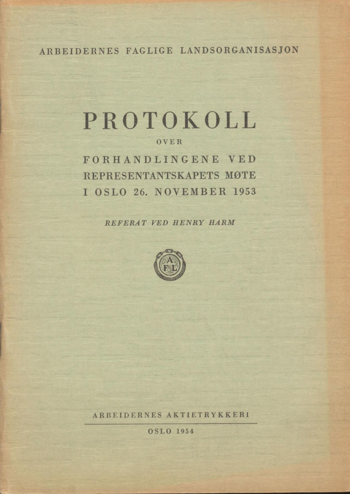 AAB, Landsorganisasjonen i Norge, 1953-1977, s. 1