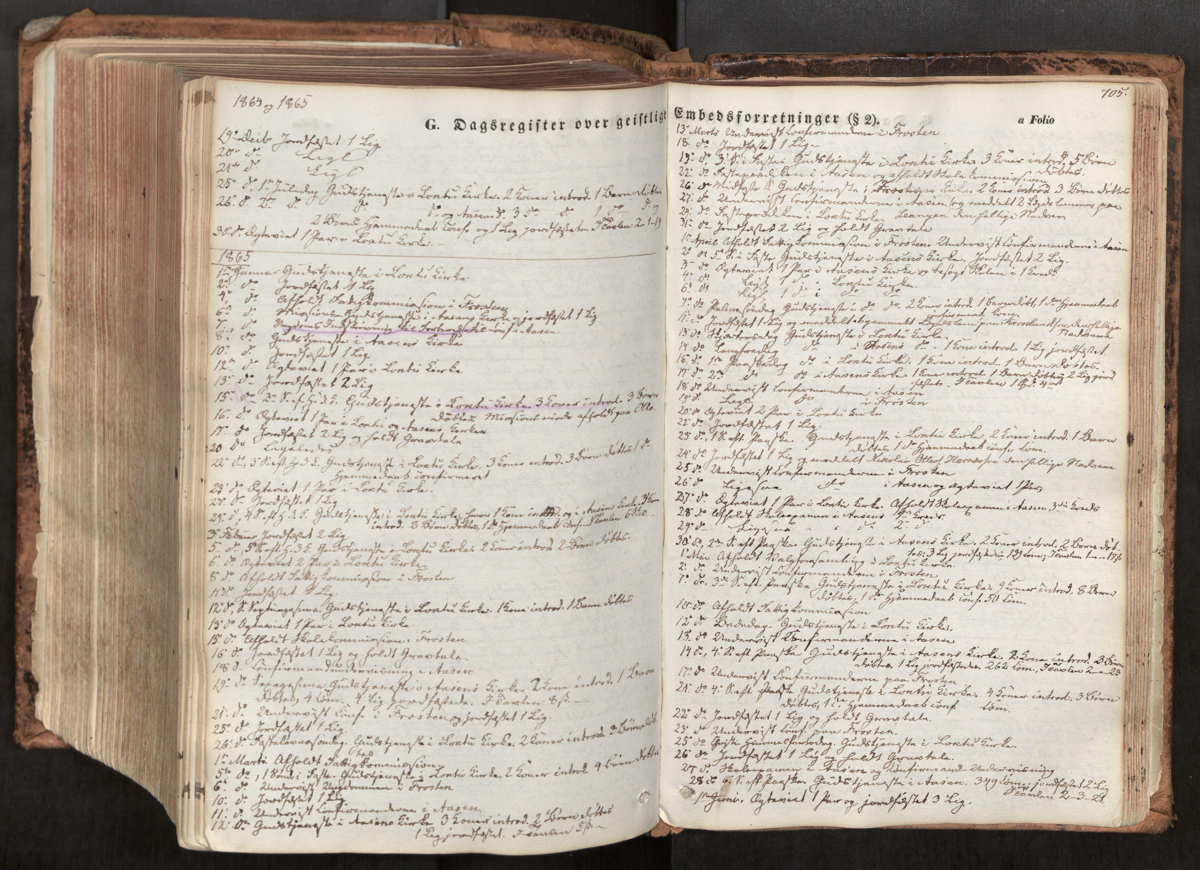 SAT, Ministerialprotokoller, klokkerbøker og fødselsregistre - Nord-Trøndelag, 713/L0116: Ministerialbok nr. 713A07, 1850-1877, s. 705