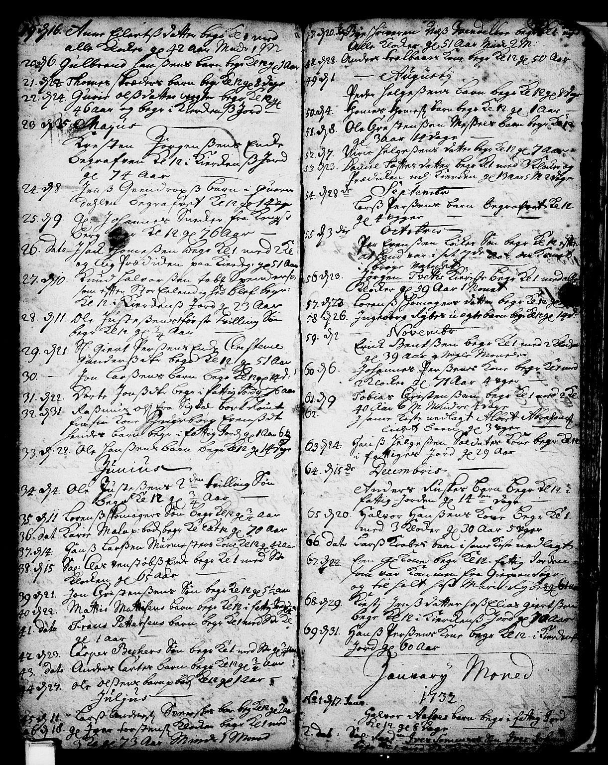 SAKO, Skien kirkebøker, F/Fa/L0002: Ministerialbok nr. 2, 1716-1757, s. 197